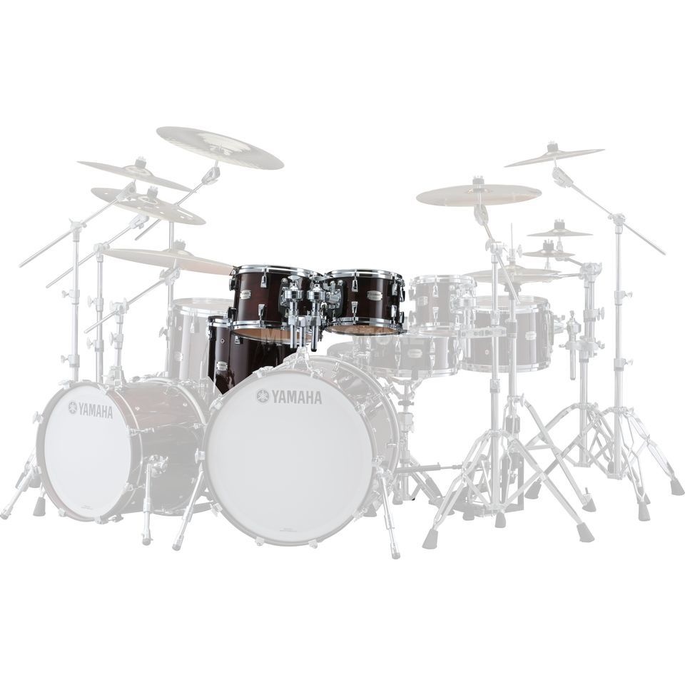 Yamaha Absolute Maple Hybrid Tom Pack 10, 12, 14FT, Classic Walnut Produktbild