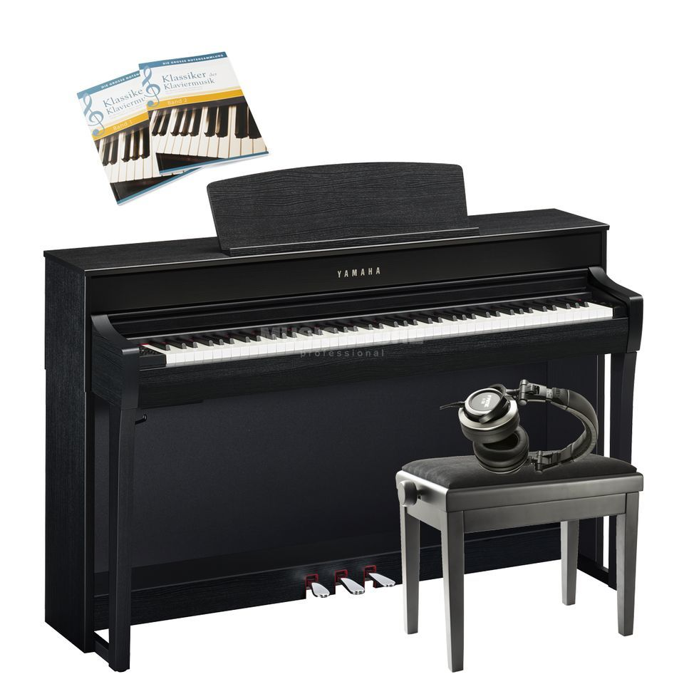 yamaha clp 675 b complete set music store professional. Black Bedroom Furniture Sets. Home Design Ideas