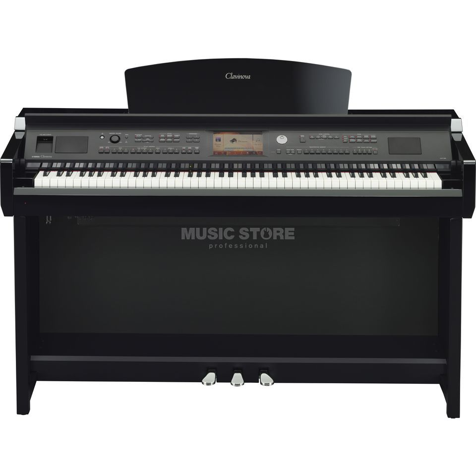 Yamaha CVP 705-PE Digital Piano Polished Ebony Product Image