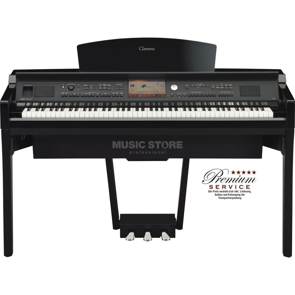 Yamaha CVP 709-PE Digital Piano Polished Ebony Productafbeelding