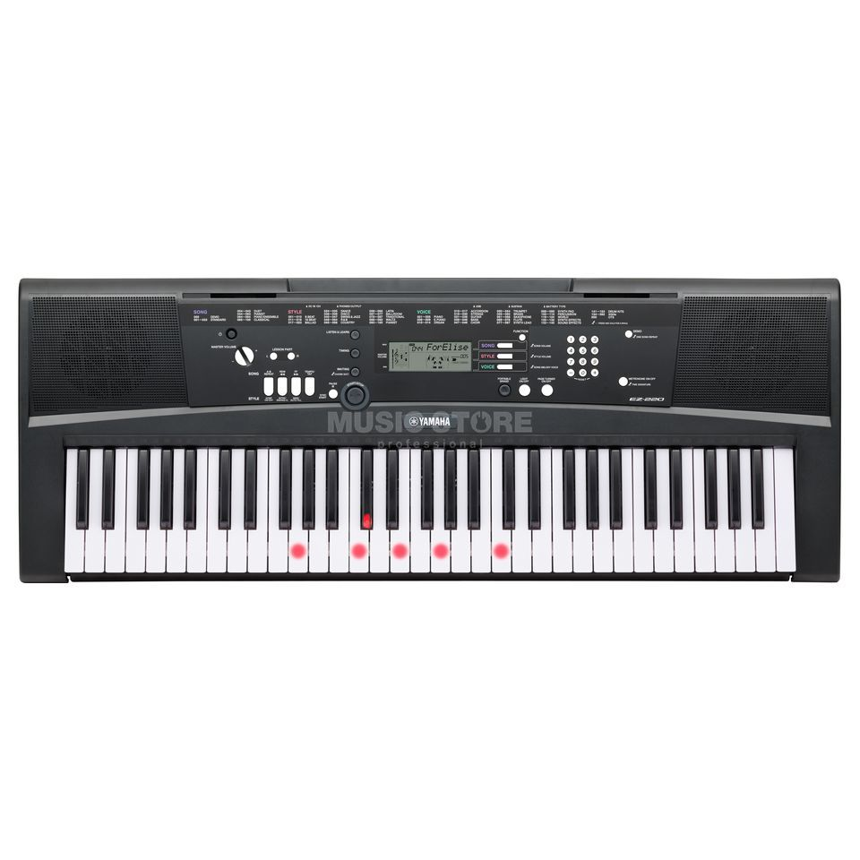 Yamaha EZ-220 61 Note Portable Keyboard Produktbillede
