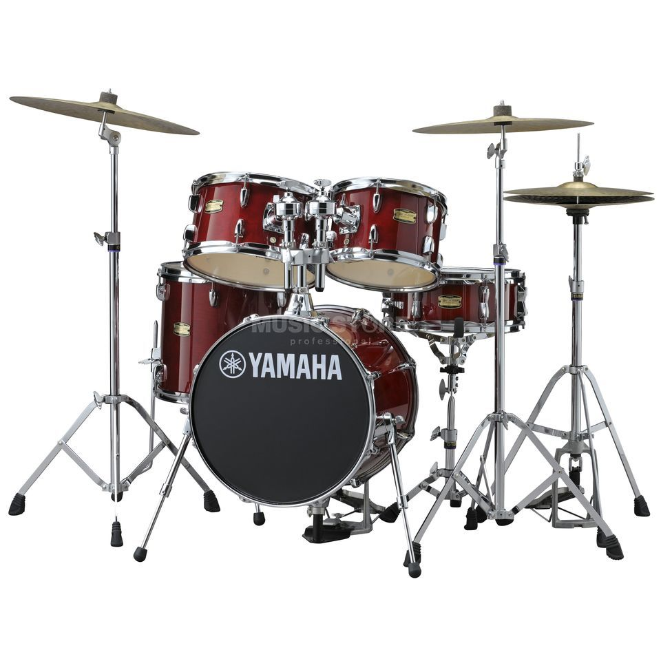 Yamaha Manu Katché Junior Kit JK6F5, incl. HW, Cranberry Red Produktbillede