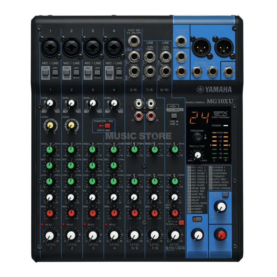 Yamaha mg10xu table de mixage 10 canaux - Table de mixage amplifiee yamaha ...