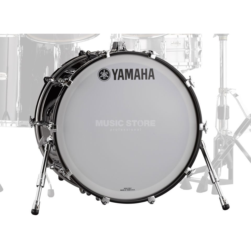 "Yamaha Recording Custom BassDrum 18""x14"", Solid Black Product Image"