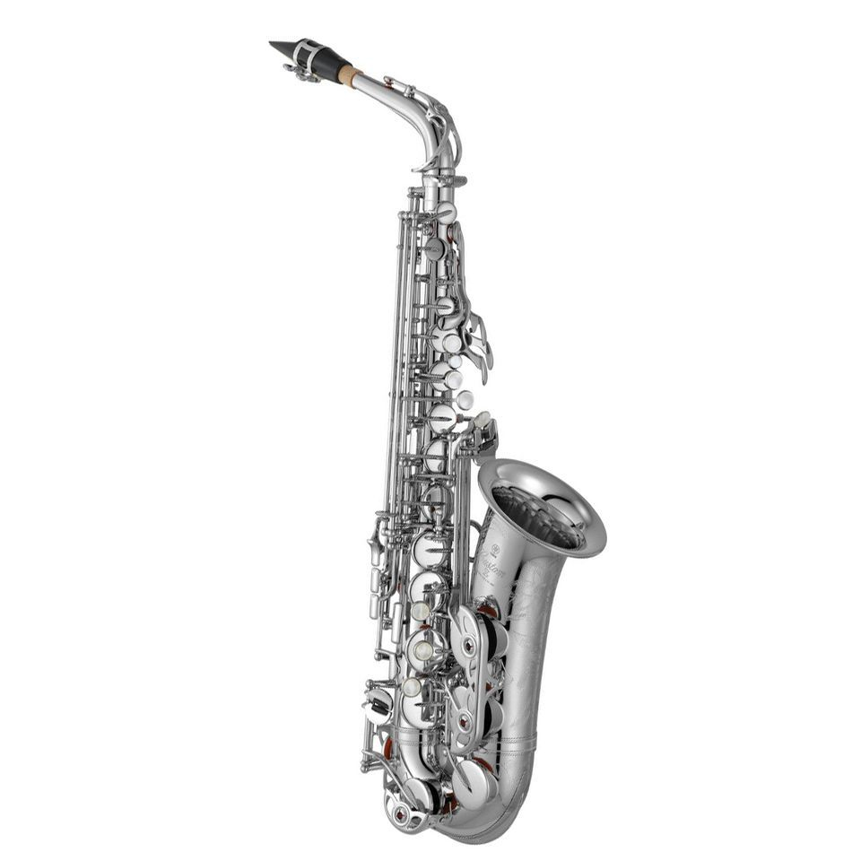 Yamaha YAS-82 ZS 02 Eb-Alto Saxophone Silver Plated, Pro Shop Series Product Image