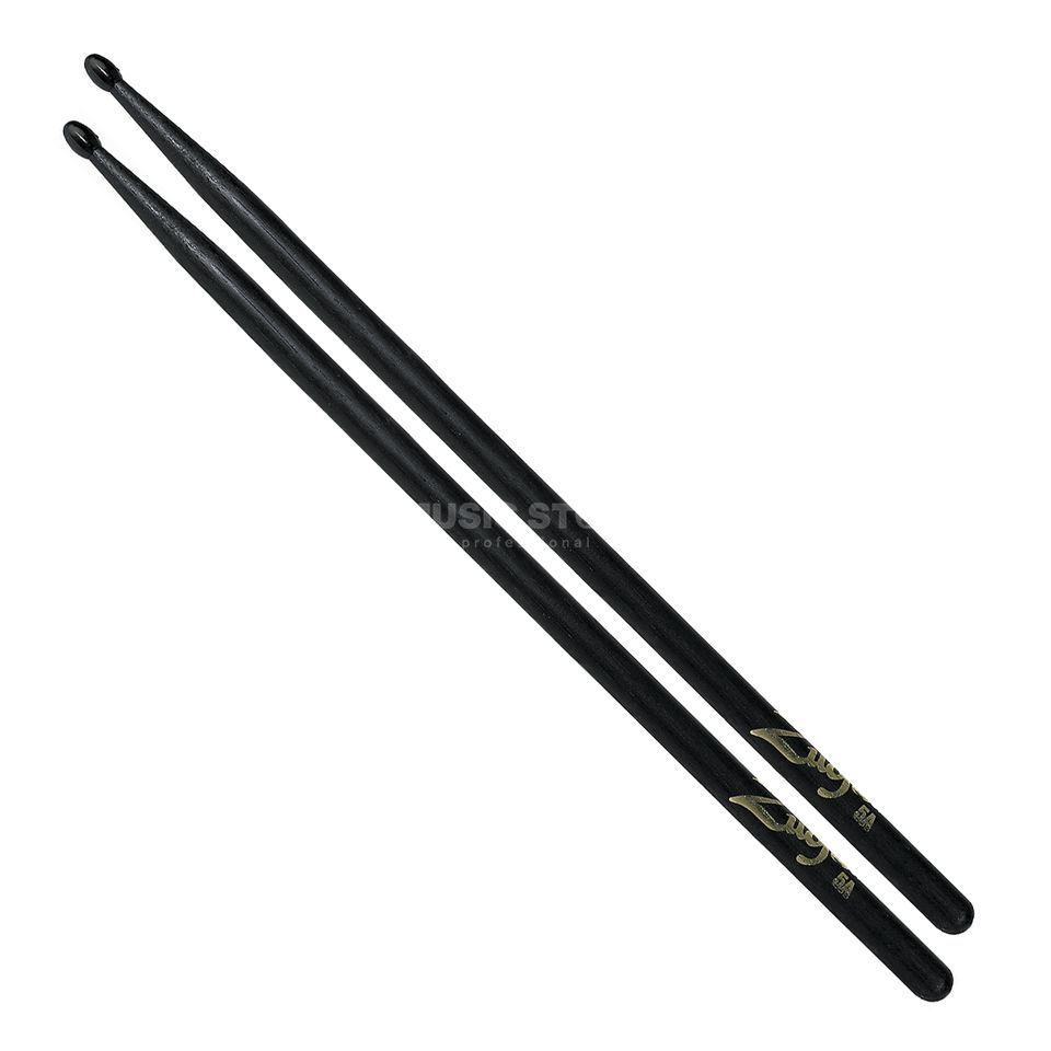 Zildjian 5AN Hickory Sticks, Black Black Finish, Nylon Tip Produktbillede