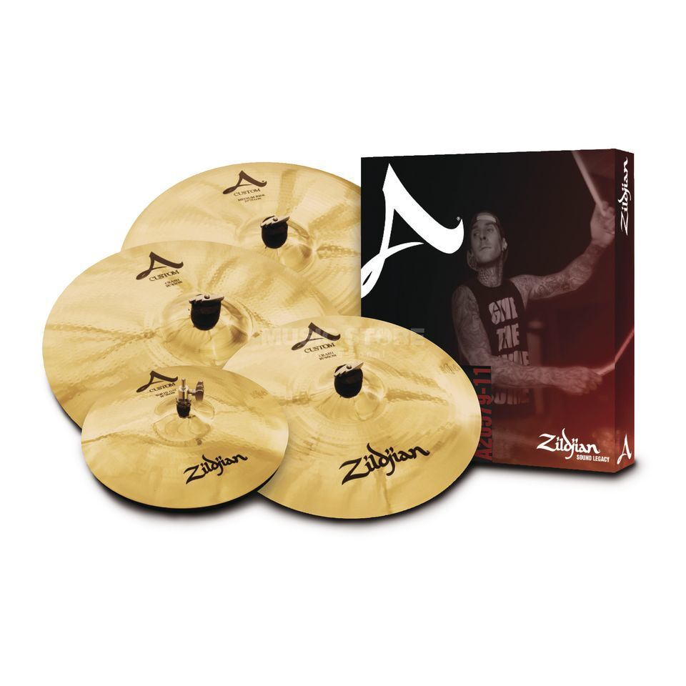 "Zildjian A-Custom Cymbal Set 14""HH, 16"" Cr, 20""R + 18Cr Product Image"