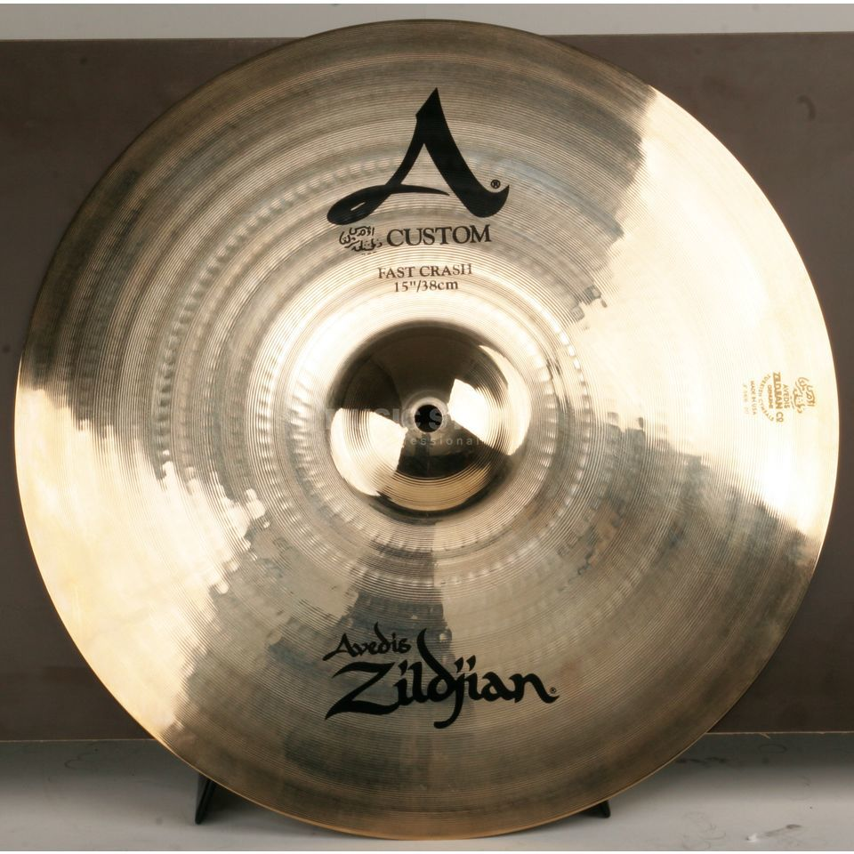 "Zildjian A-Custom Fast Crash 15"" Brilliant Finish Product Image"