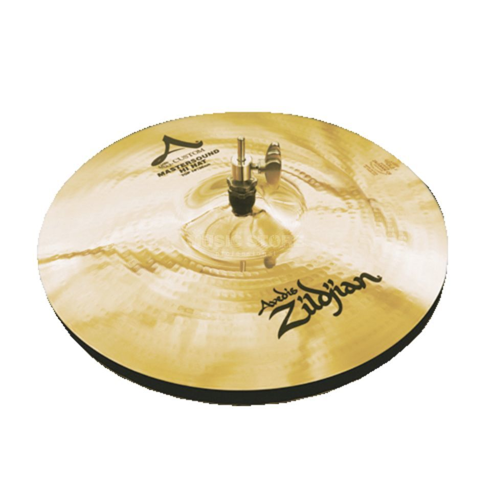 "Zildjian A-Custom Mastersound HiHat 14"" Brilliant Finish Product Image"