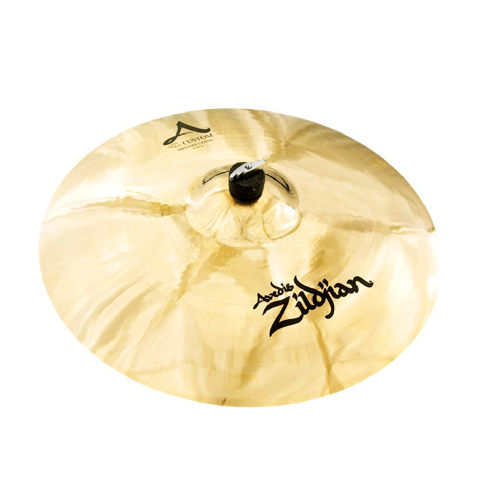 "Zildjian A-Custom Medium Crash 19"", Brilliant Finish Product Image"