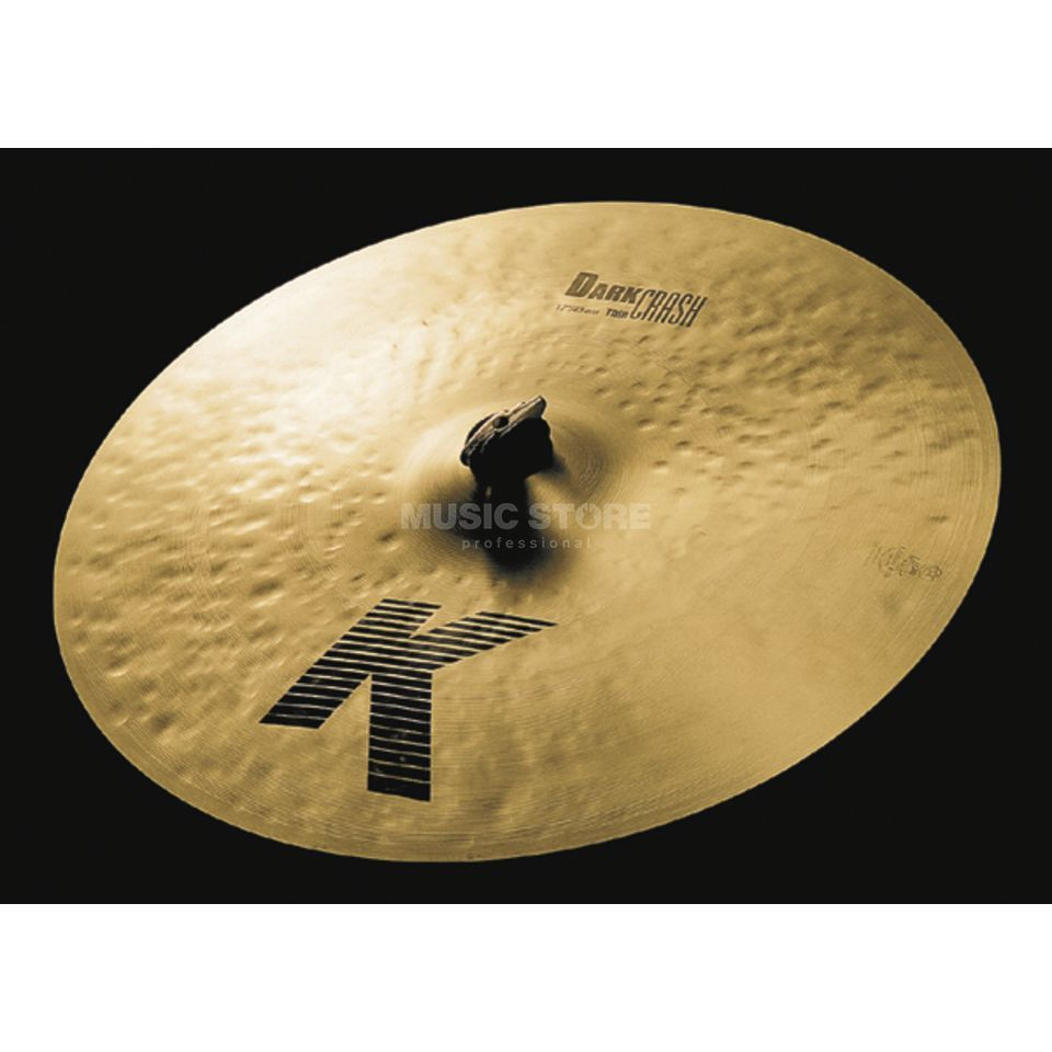 "Zildjian K' Dark Crash Thin 17"", Traditional Finish Product Image"