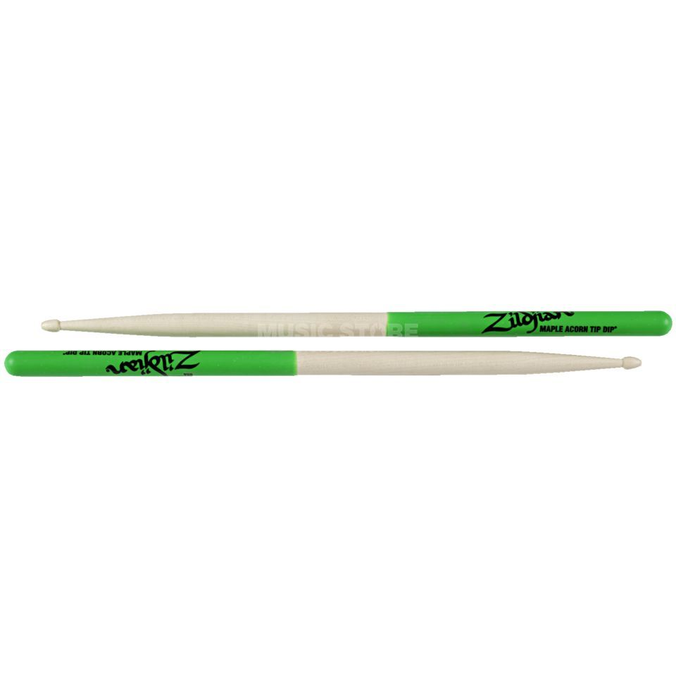 Zildjian Maple Sticks Green Dip, Acorn Product Image