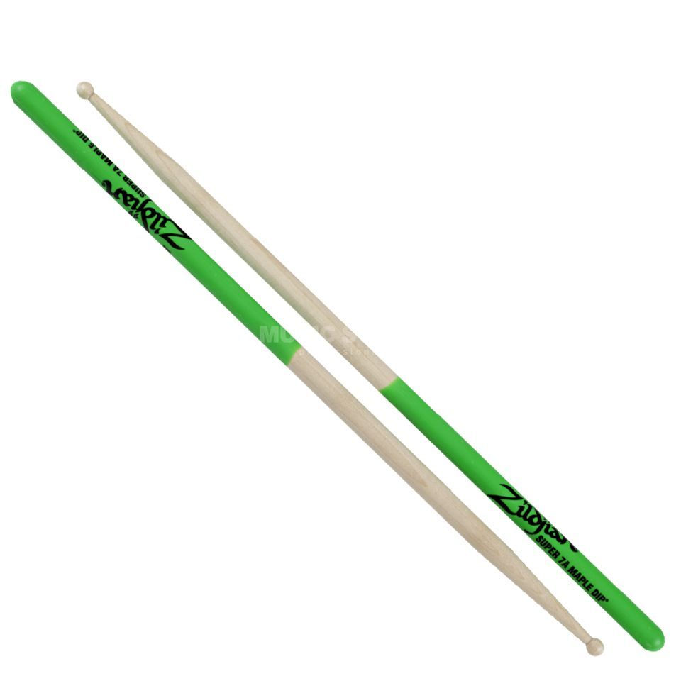 Zildjian Maple Sticks Green Dip, Super 7A Produktbillede