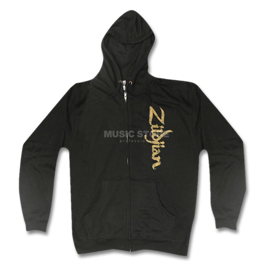Zildjian Sweat-Kapuzenjacke Vertical Logo Black, Medium Produktbillede