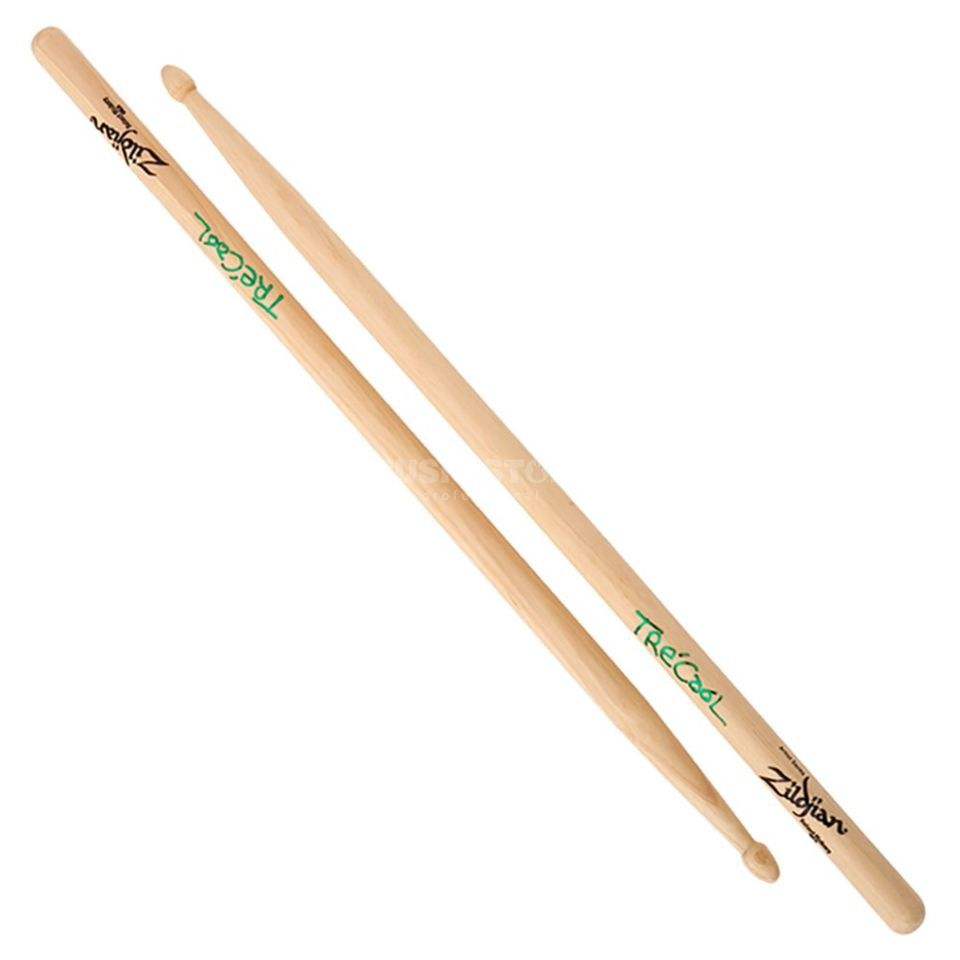 Zildjian Tre Cool Hickory Sticks Natural Finish, Wood Tip Produktbillede