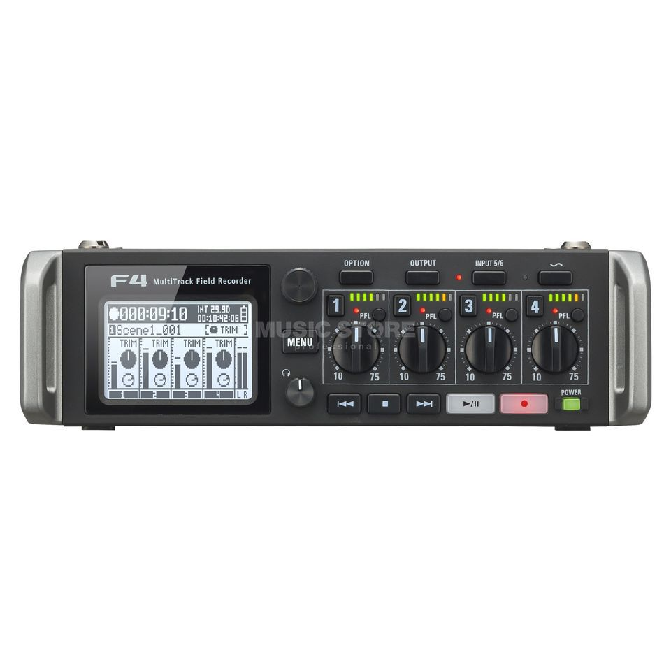 Zoom F4 Multitrack Fieldrecorder Produktbillede
