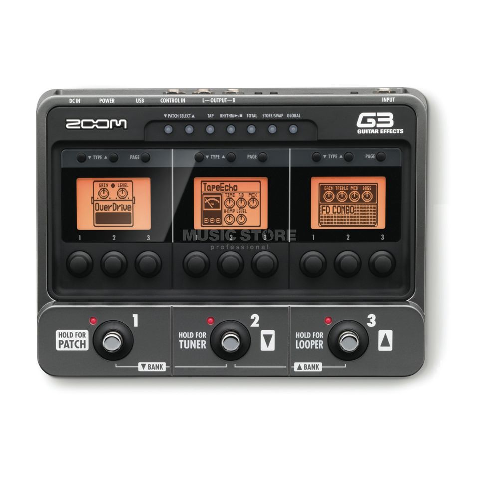 Zoom G3 Guitar Multi Effects Pedal    Produktbillede