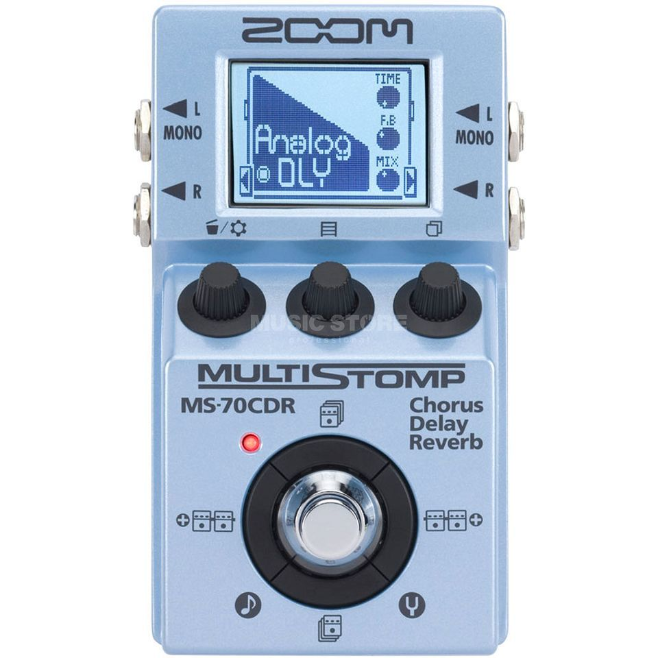 Zoom MultiStomp MS-70CDR Chorus Delay Reverb Produktbild