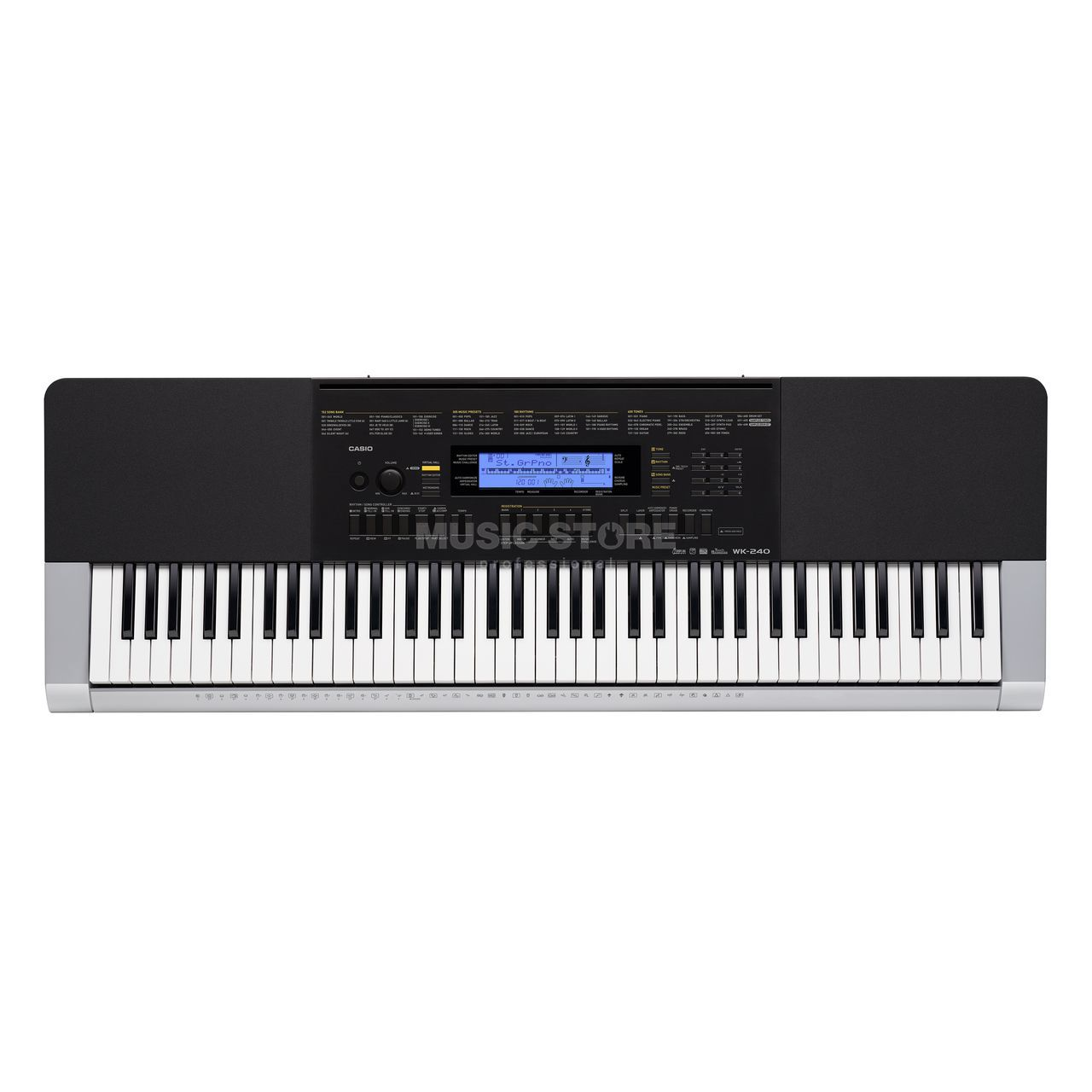 casio wk 240 standard keyboard. Black Bedroom Furniture Sets. Home Design Ideas