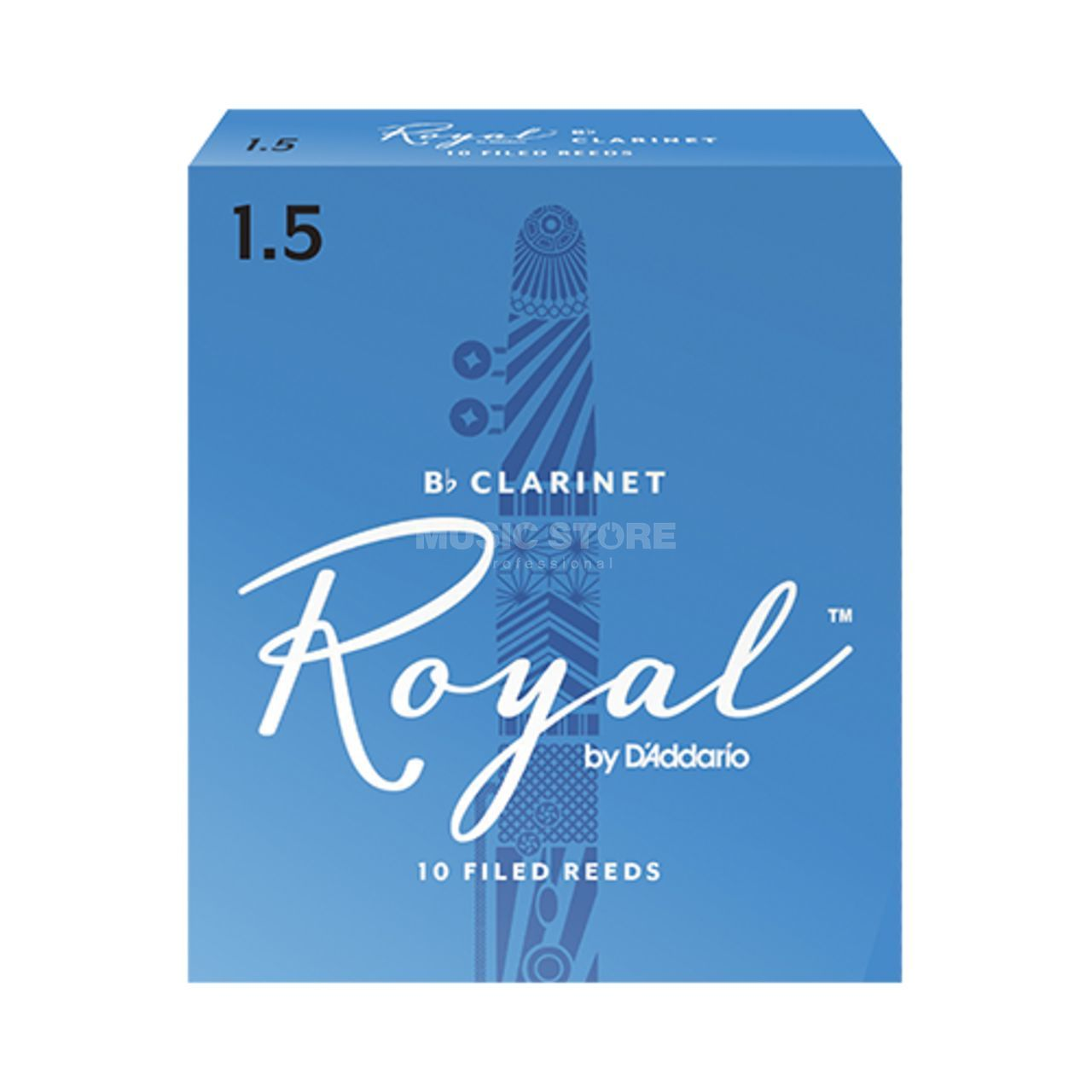 Rico Royal Bb Clarinet Reeds Strength 2.5 10-pack