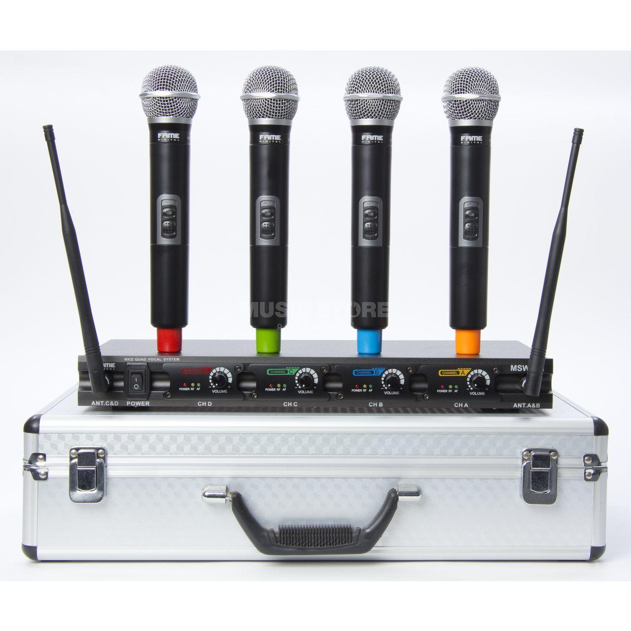 fame audio msw 4 1 mkii quad vocal system 1x r cepteur 4x micro main sans fil. Black Bedroom Furniture Sets. Home Design Ideas