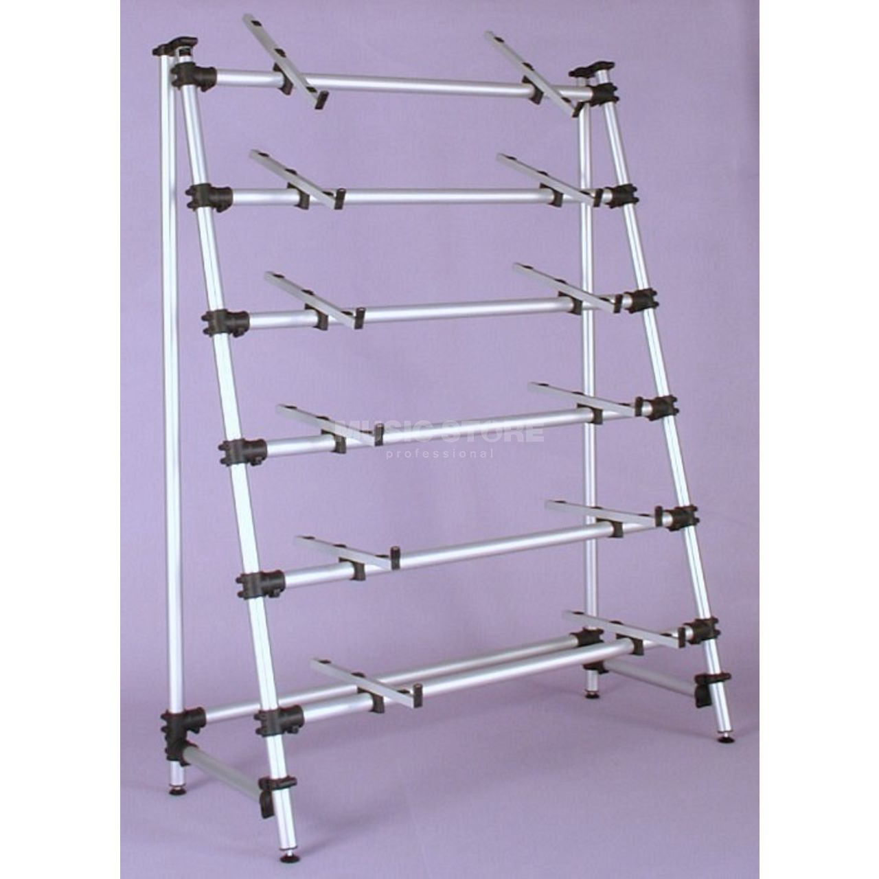 jaspers 6d 120s keyboard stand for 6 keyboards silver