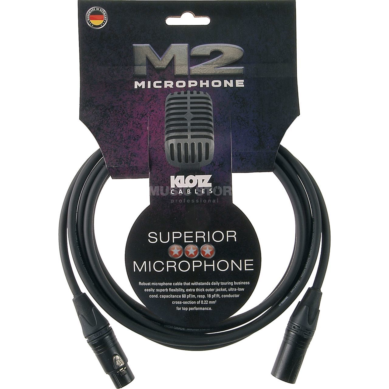 Klotz M2FM1-0030 M2 Mikrofonkabel 0,3 m