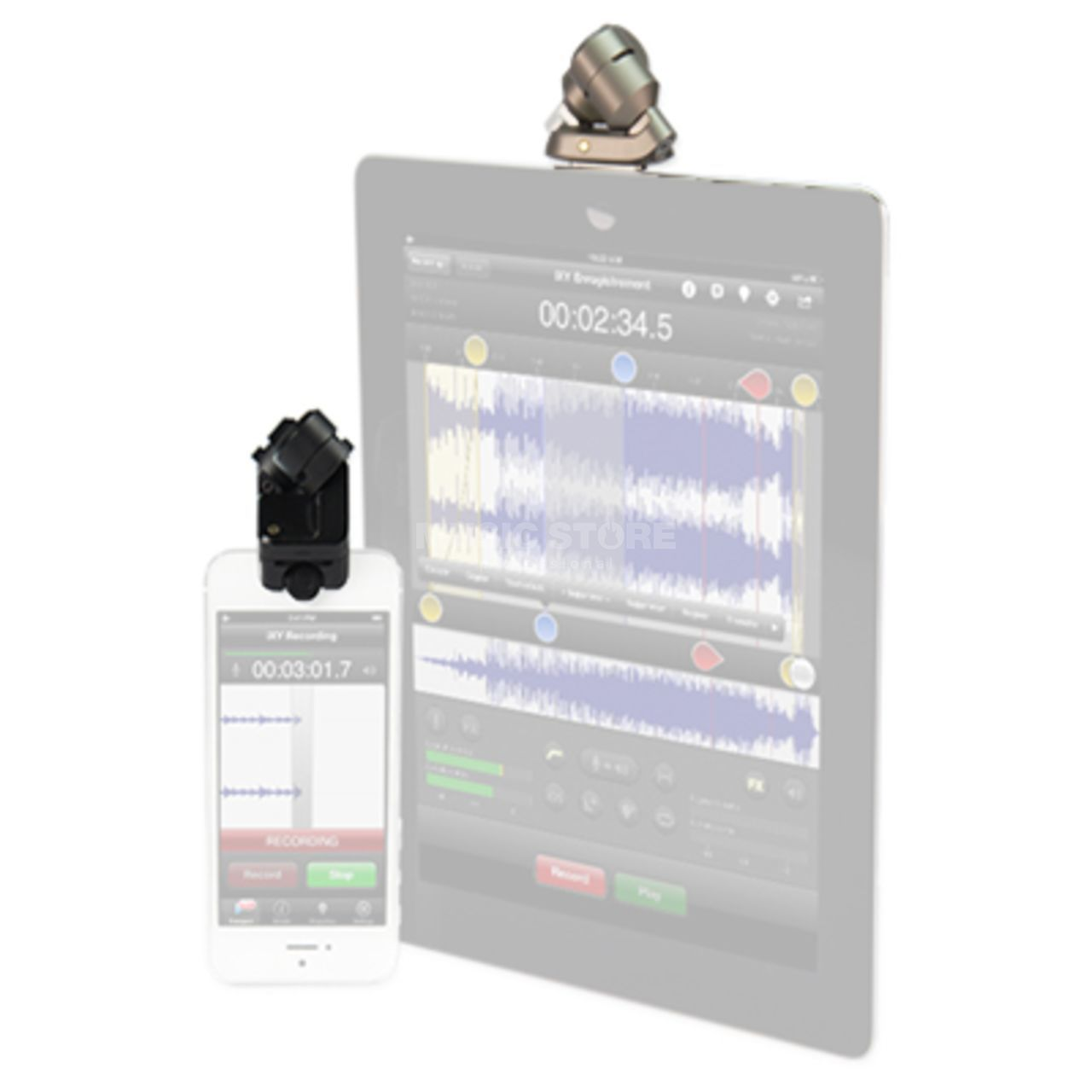 iPad und iPhone Rode iXY Stereo Mikrophone 24//96 Studio Qualit/ät f/ür iPhone
