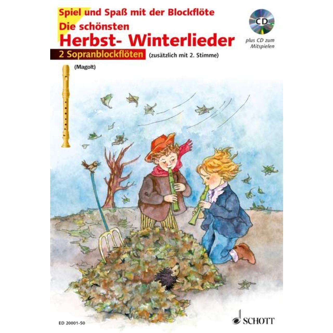Schott Music Die Schönsten Herbstlieder Cd 2 Sopran Blockflöten