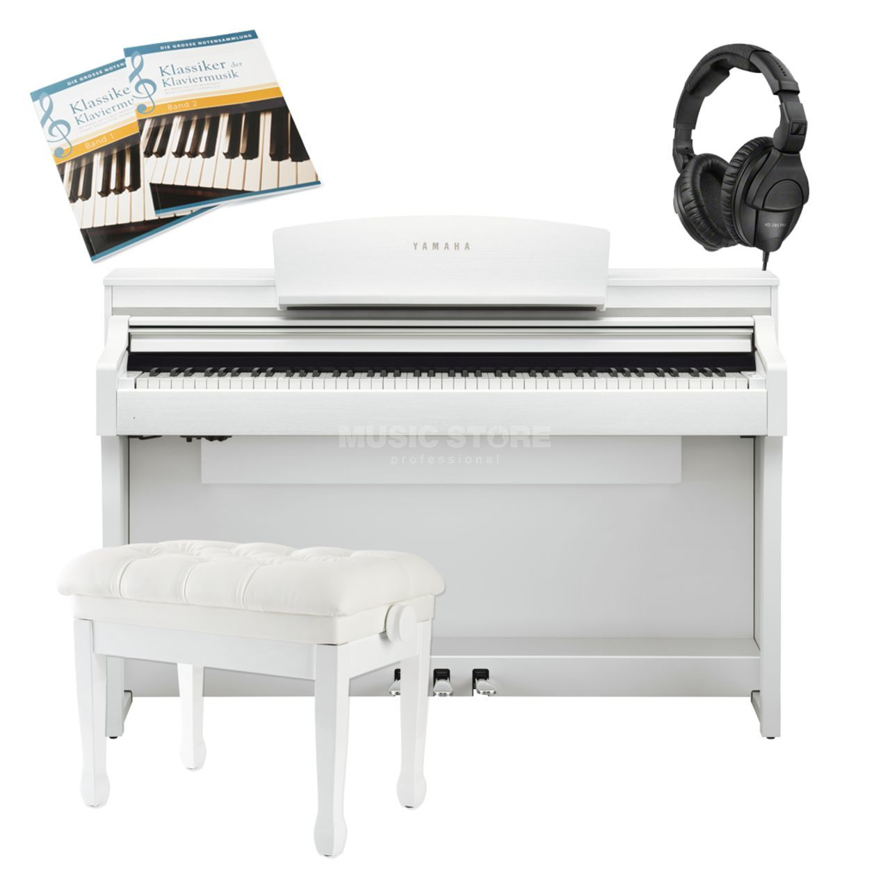 yamaha clp 635 b complete set music store professional. Black Bedroom Furniture Sets. Home Design Ideas