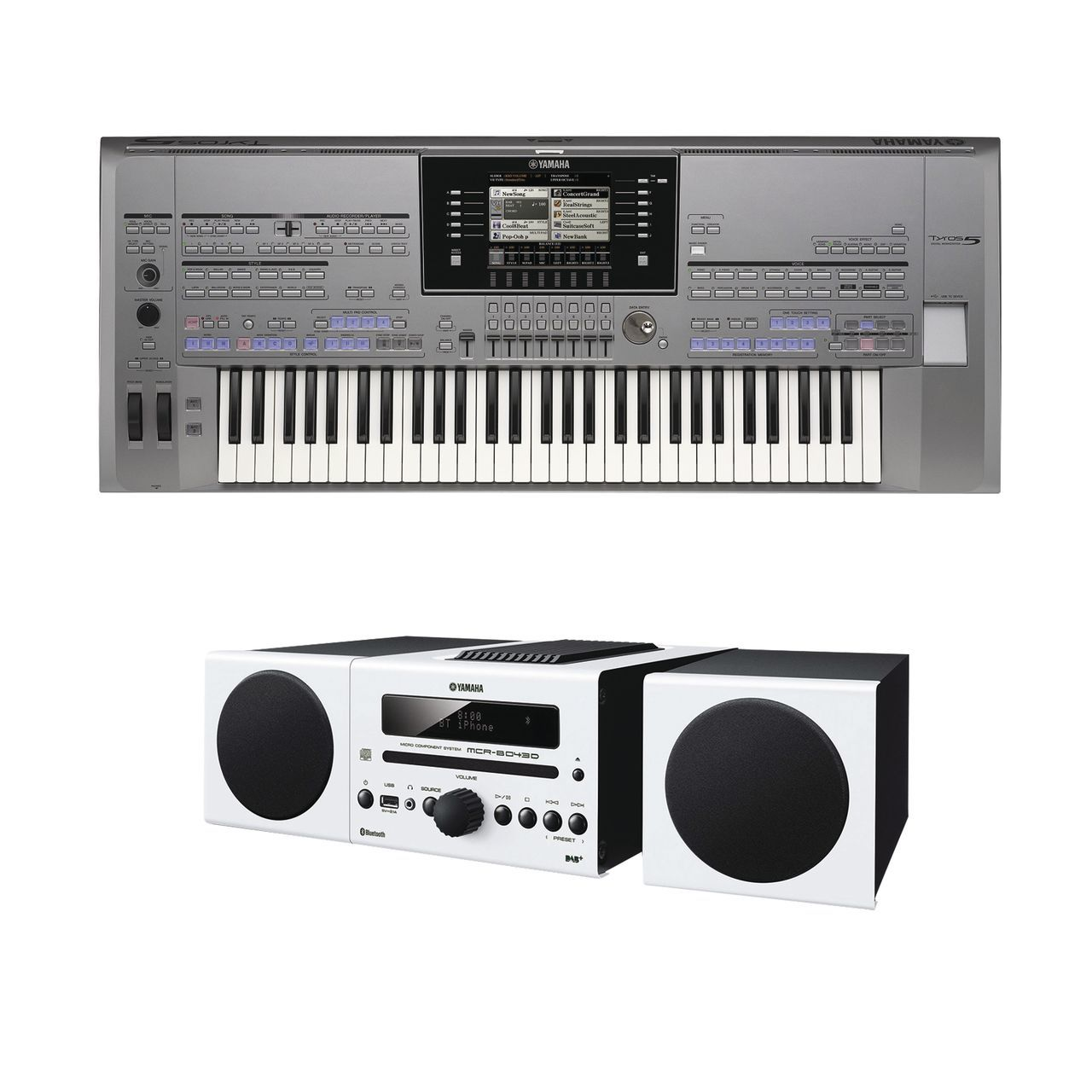 yamaha tyros 5 61 inkl mcr b043d hifi anlage und gratis. Black Bedroom Furniture Sets. Home Design Ideas