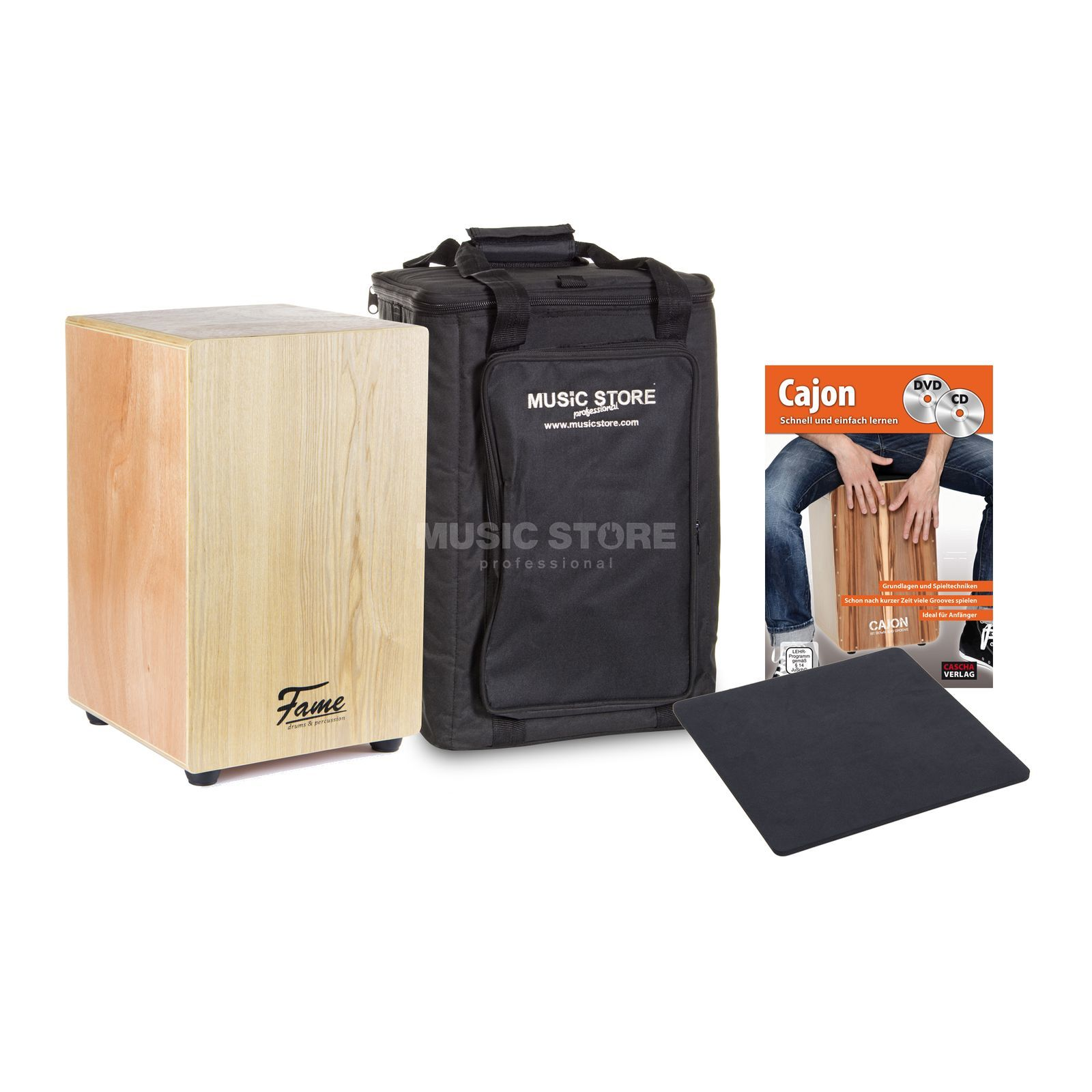 Beginner Cajon+Bag+DVD - Set Produktbillede