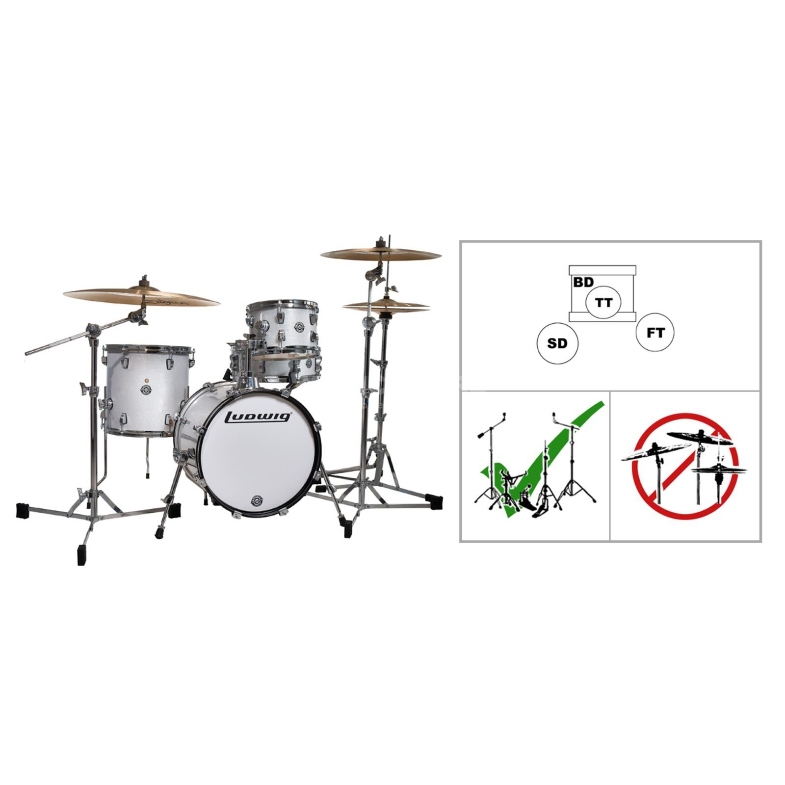 Breakbeats White Flatbase- Set Product Image