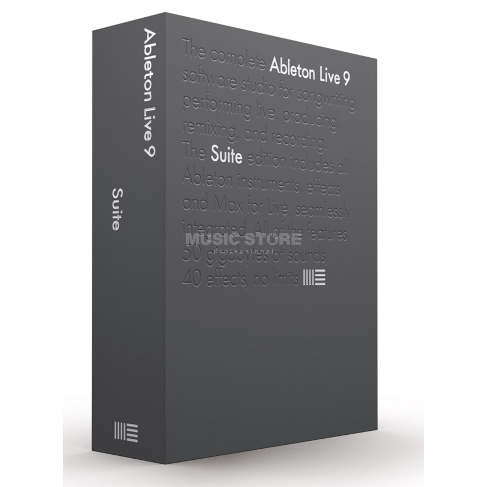 Ableton LIVE 9 SUITE (LiveLite UPG) Boxed Version Produktbild