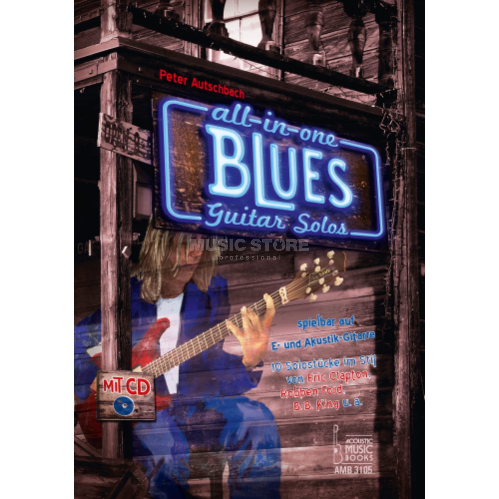 Acoustic Music Books All in One Blues Guitar Solos für E- und Akustik-Gitarre Produktbillede
