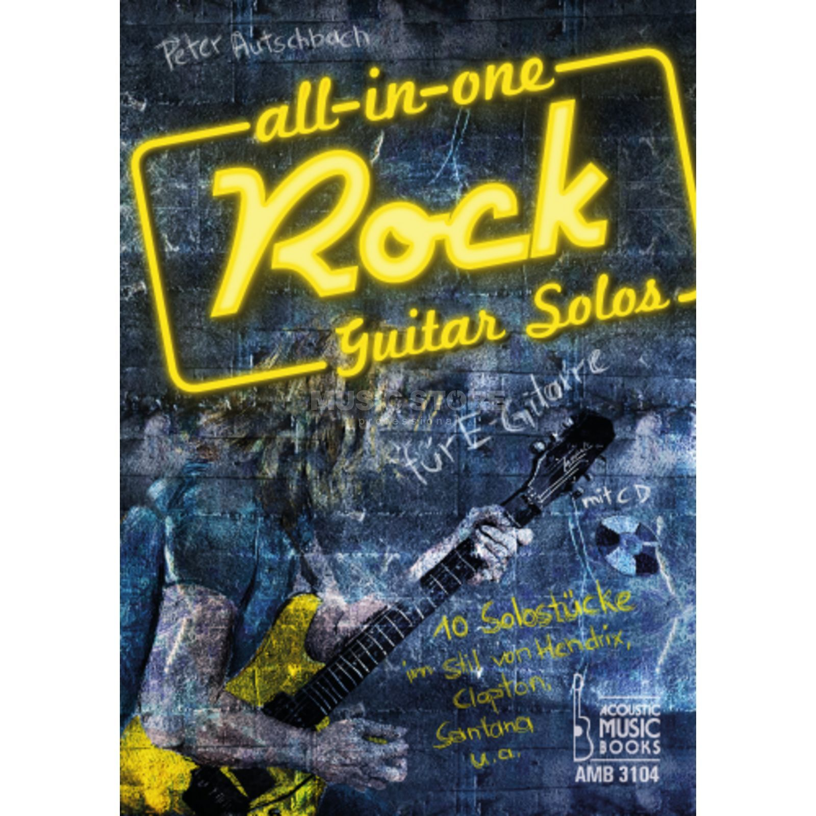 Acoustic Music Books All in One Rock Guitar Solos Peter Autschbach Produktbillede