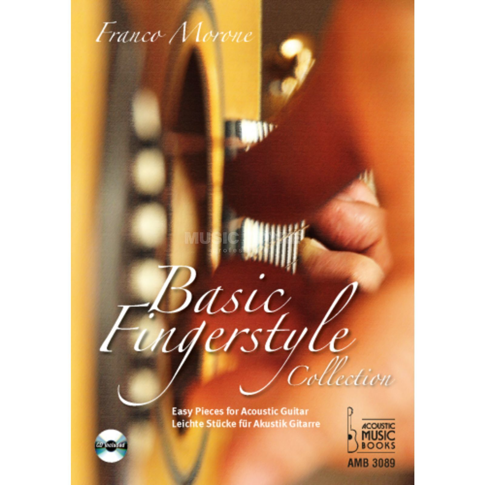 Acoustic Music Books Basic Fingerstyle Collection Franco Morone, Buch/CD Produktbild
