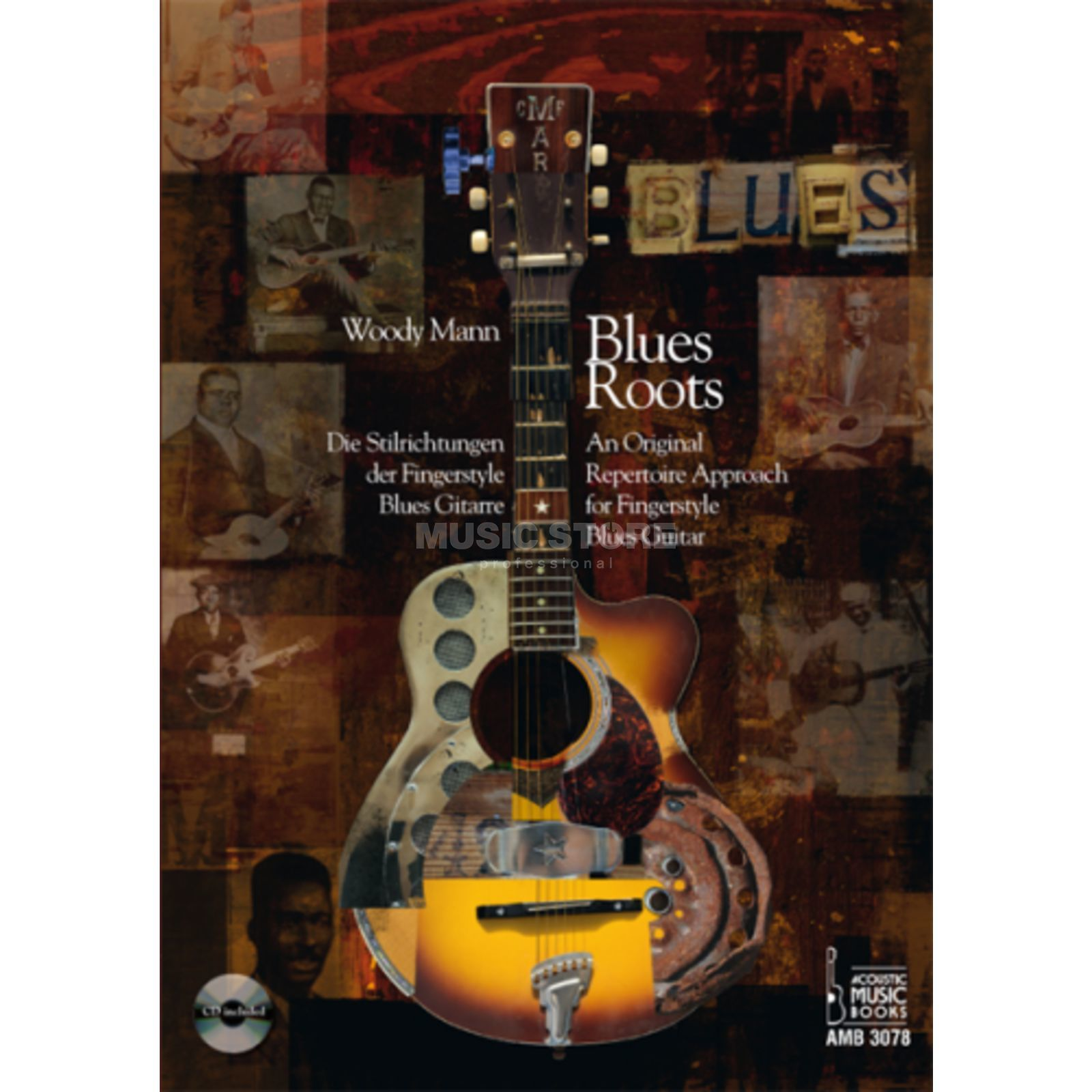 Acoustic Music Books Blues Roots Woody Mann, Buch/CD Produktbillede