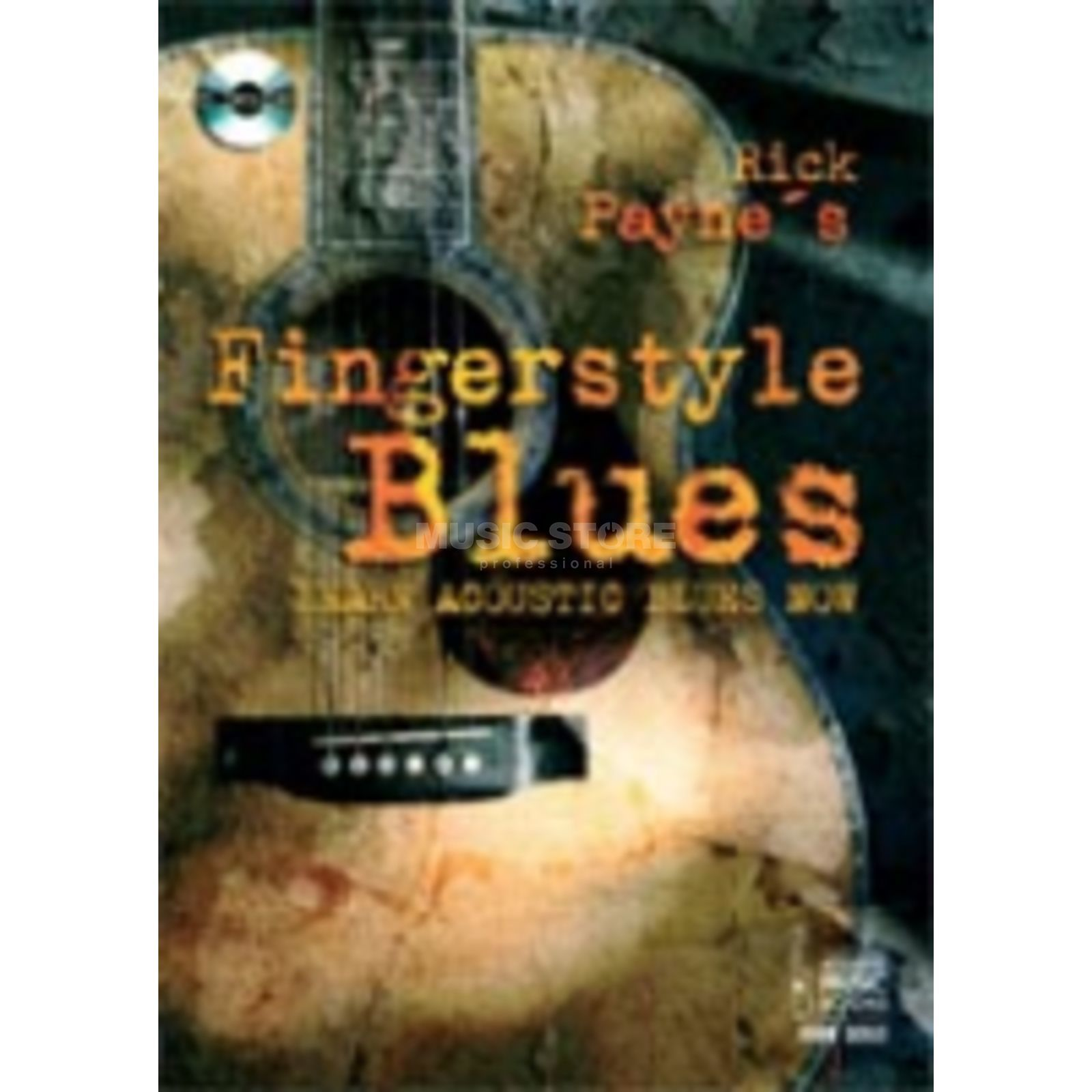 Acoustic Music Books Fingerstyle Blues Rick Payne, Git TAB/CD Produktbild
