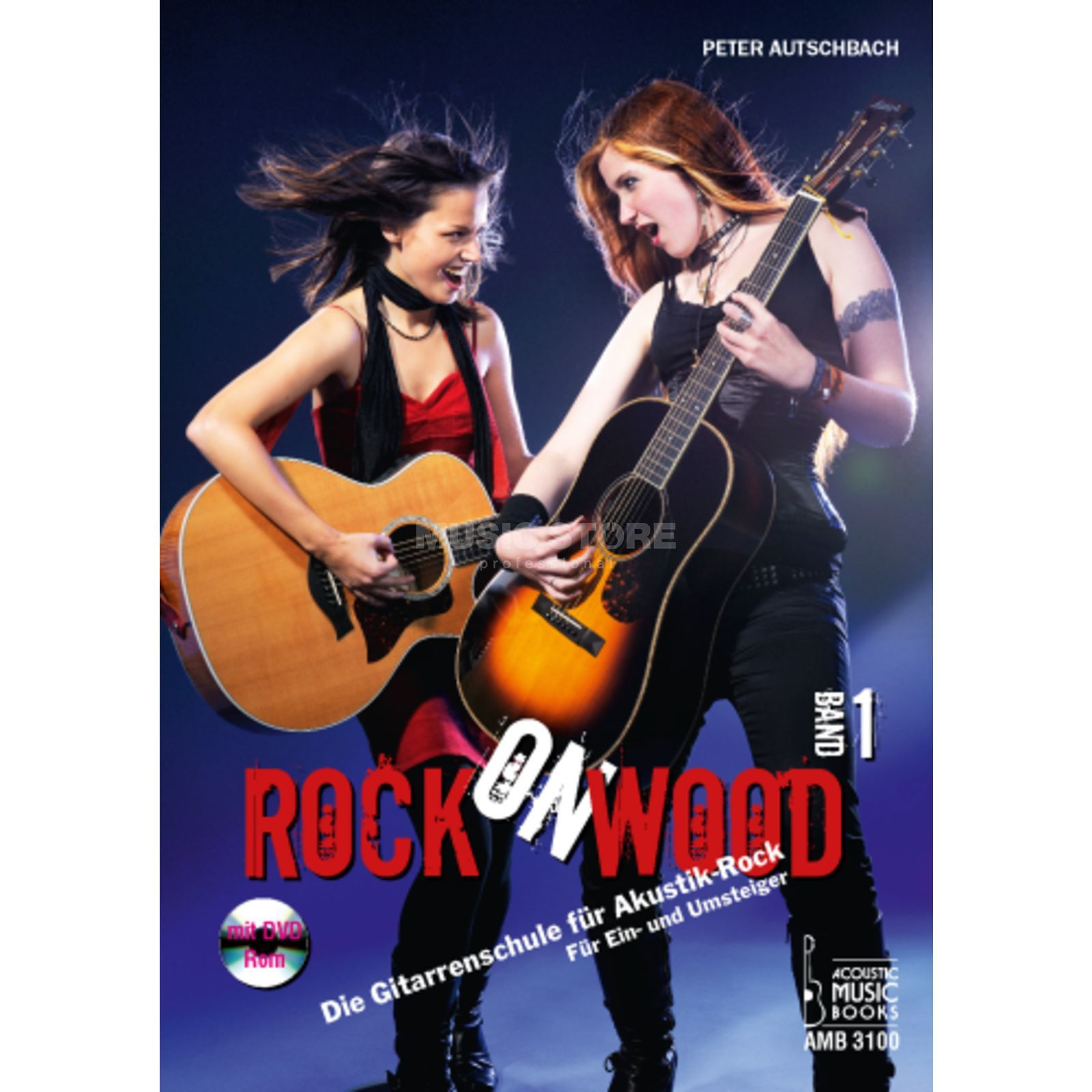 Acoustic Music Books Rock On Wood 1, Gitarrenschule Peter Autschbach, DVD/ROM Produktbillede