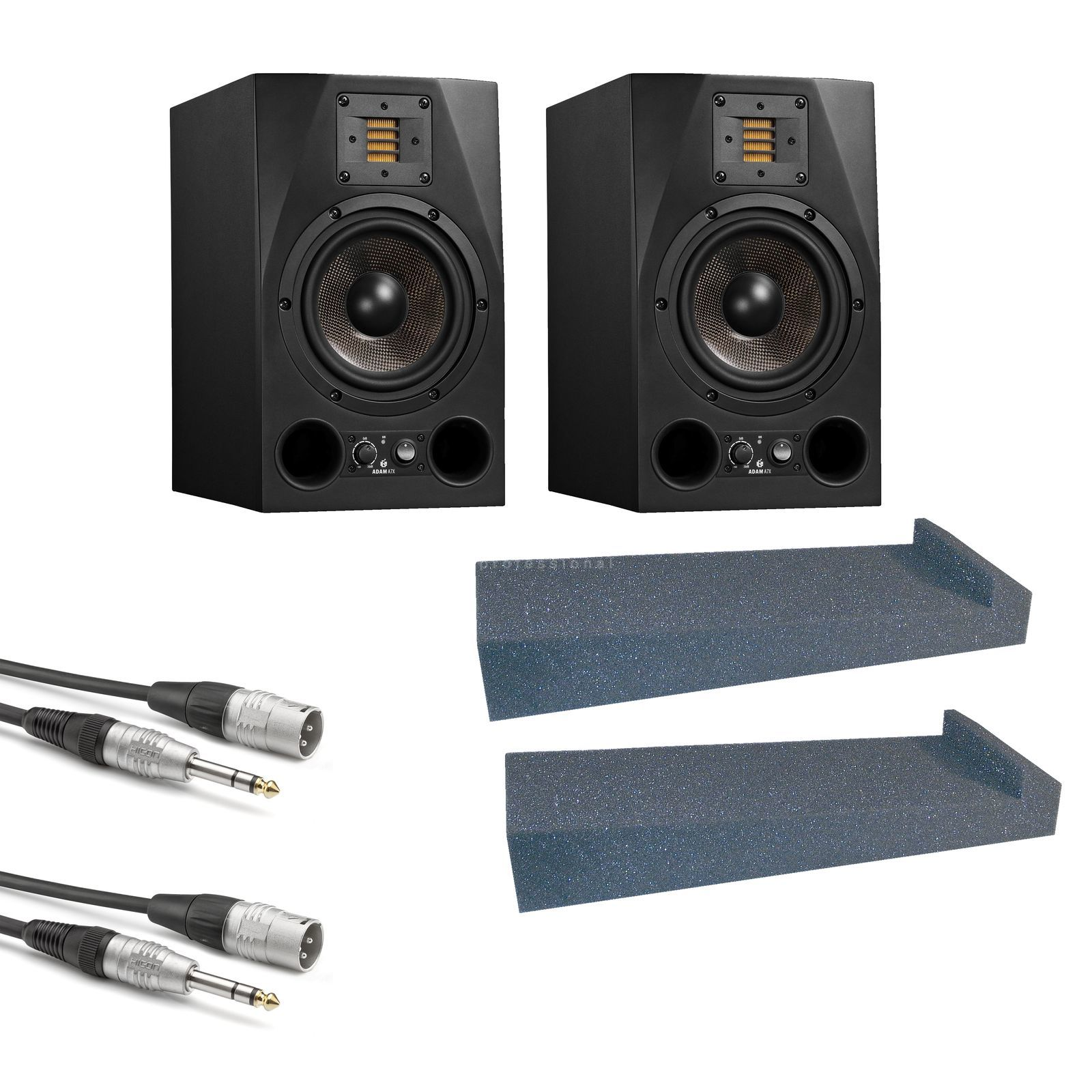 Adam Audio A7X + Speaker Pad - Set Produktbillede