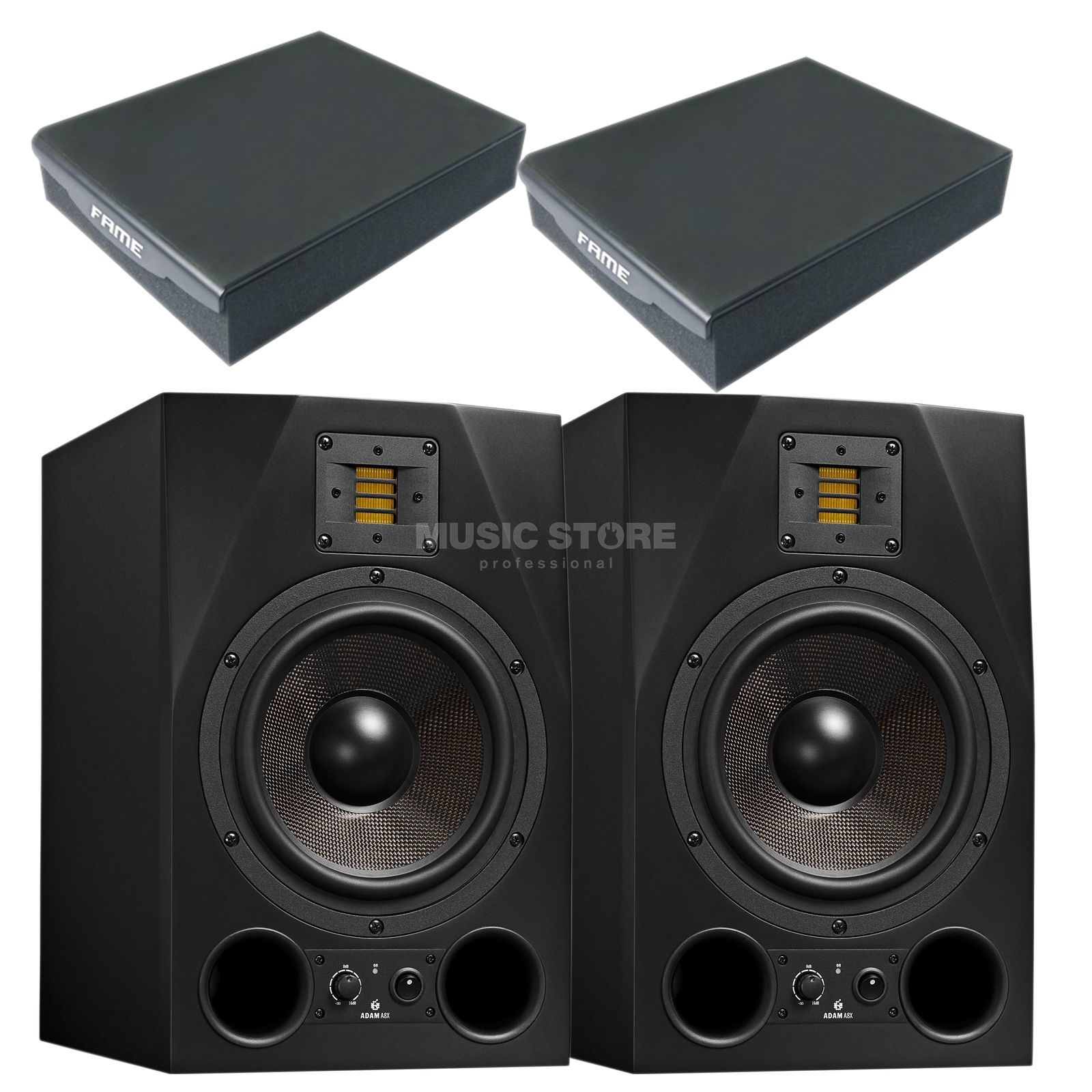 Adam Audio A8X + MSI Angle Pads - Set Produktbild