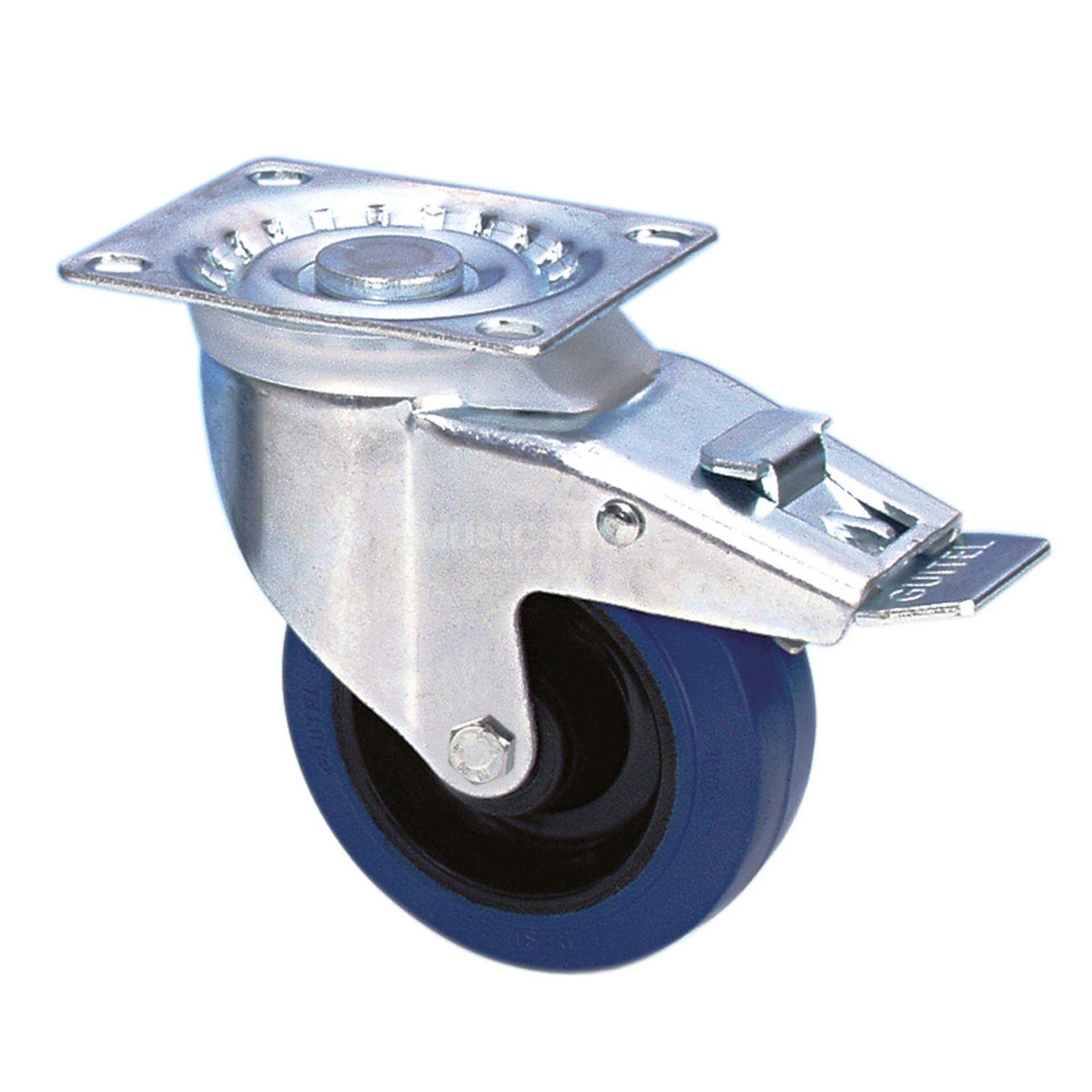 adam hall 37024 roulette pivotante 100mm bleu avec frein. Black Bedroom Furniture Sets. Home Design Ideas