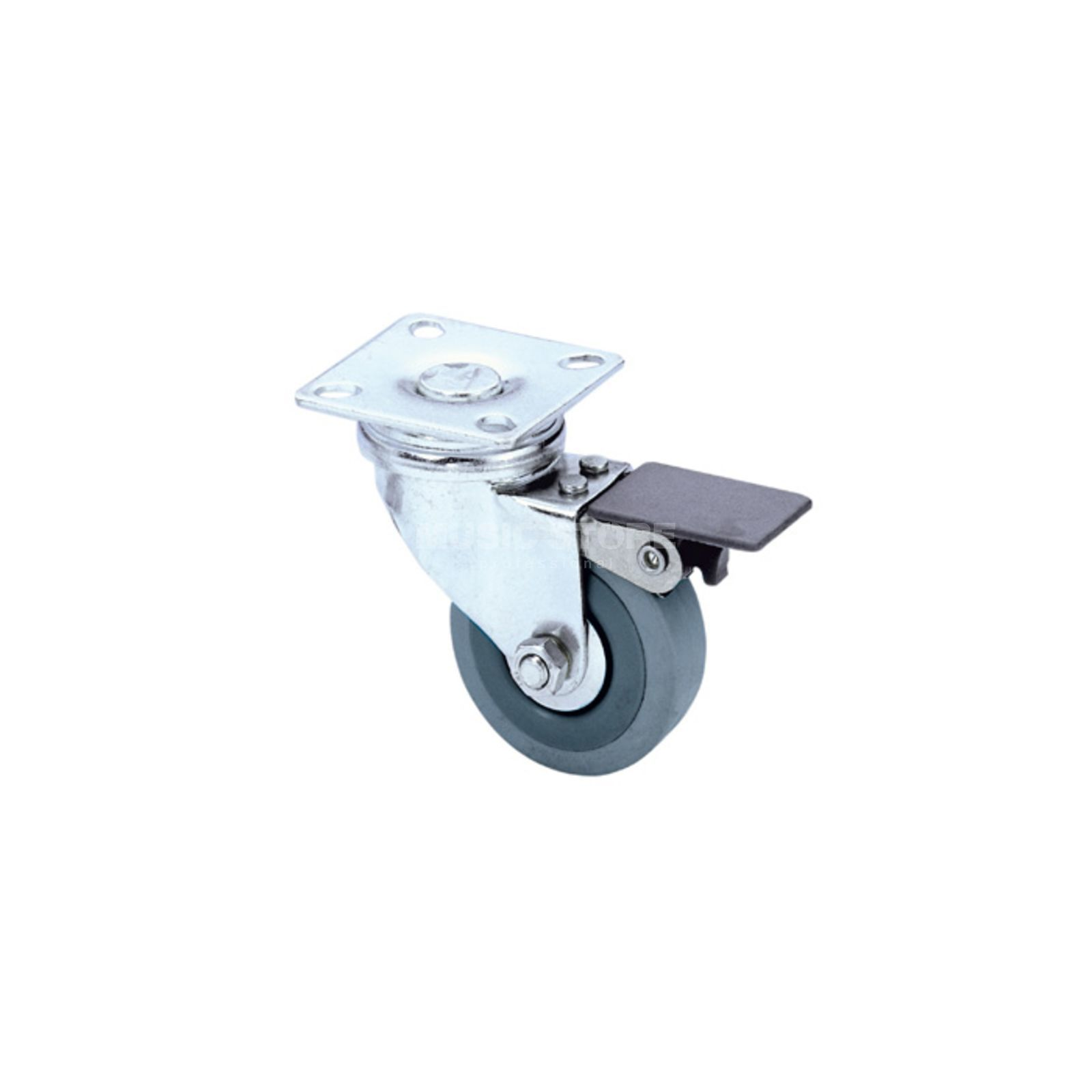 Adam Hall 3703 - Swivel Castor 50 mm with grey Wheel and Brake Produktbillede
