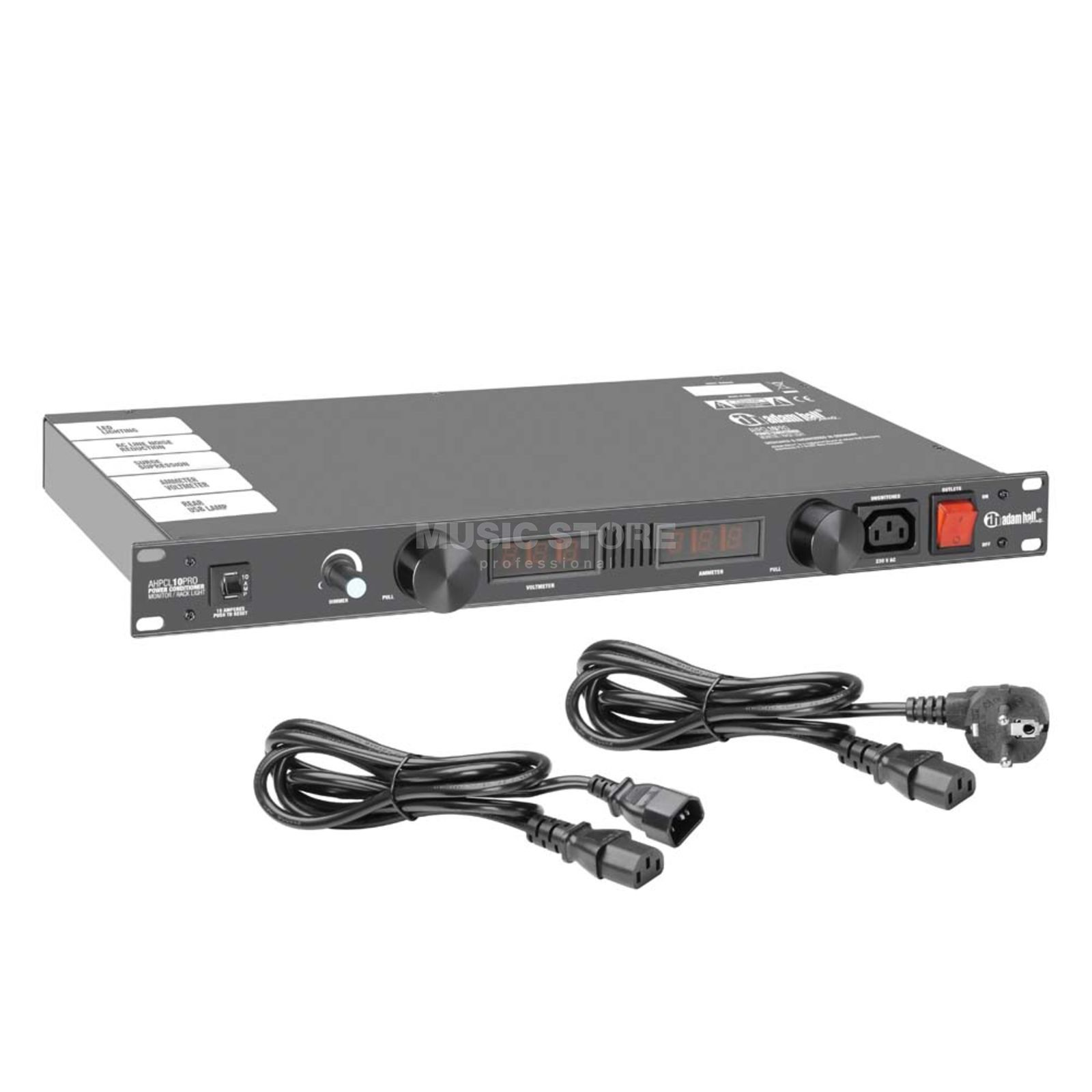 "Adam Hall PCL 10 PRO Power Conditioner 19"", mit Volt- u.Amperemeter Produktbild"