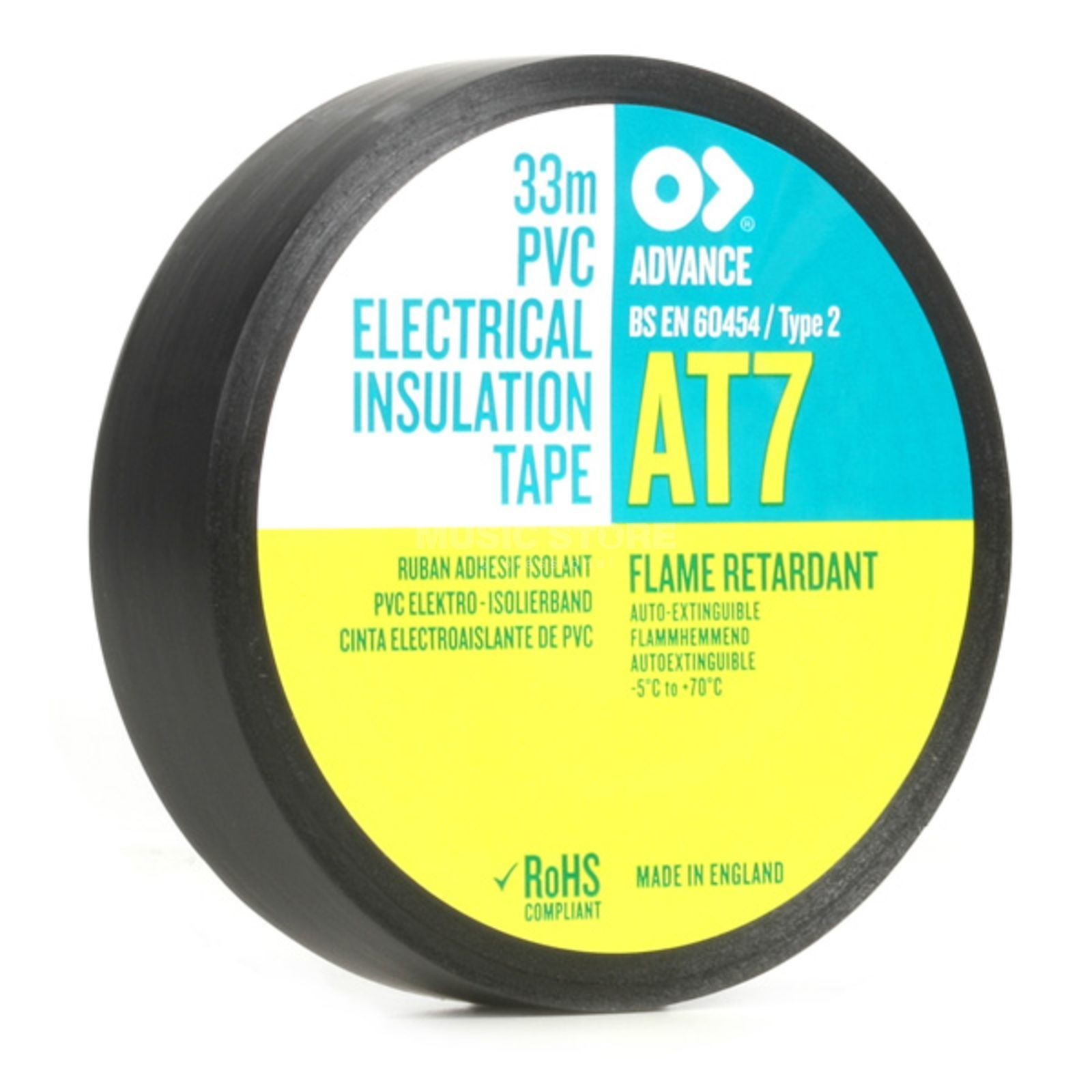 Advance AT7 PVC Insulation Tape, black 33m, 19mm Produktbillede