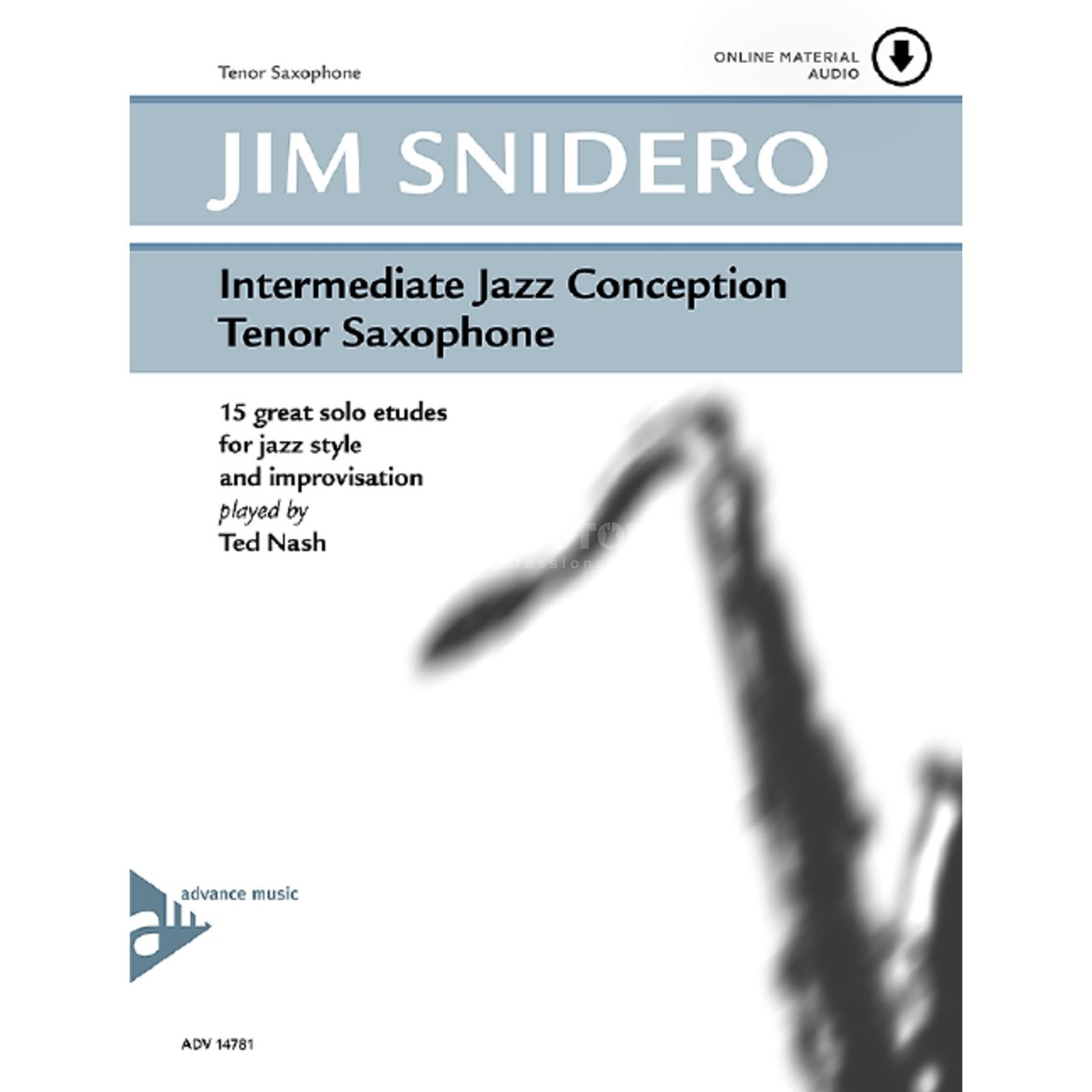 Advance Music Snidero: Intermediate Jazz Conception, Tenor-Sax & CD Produktbild