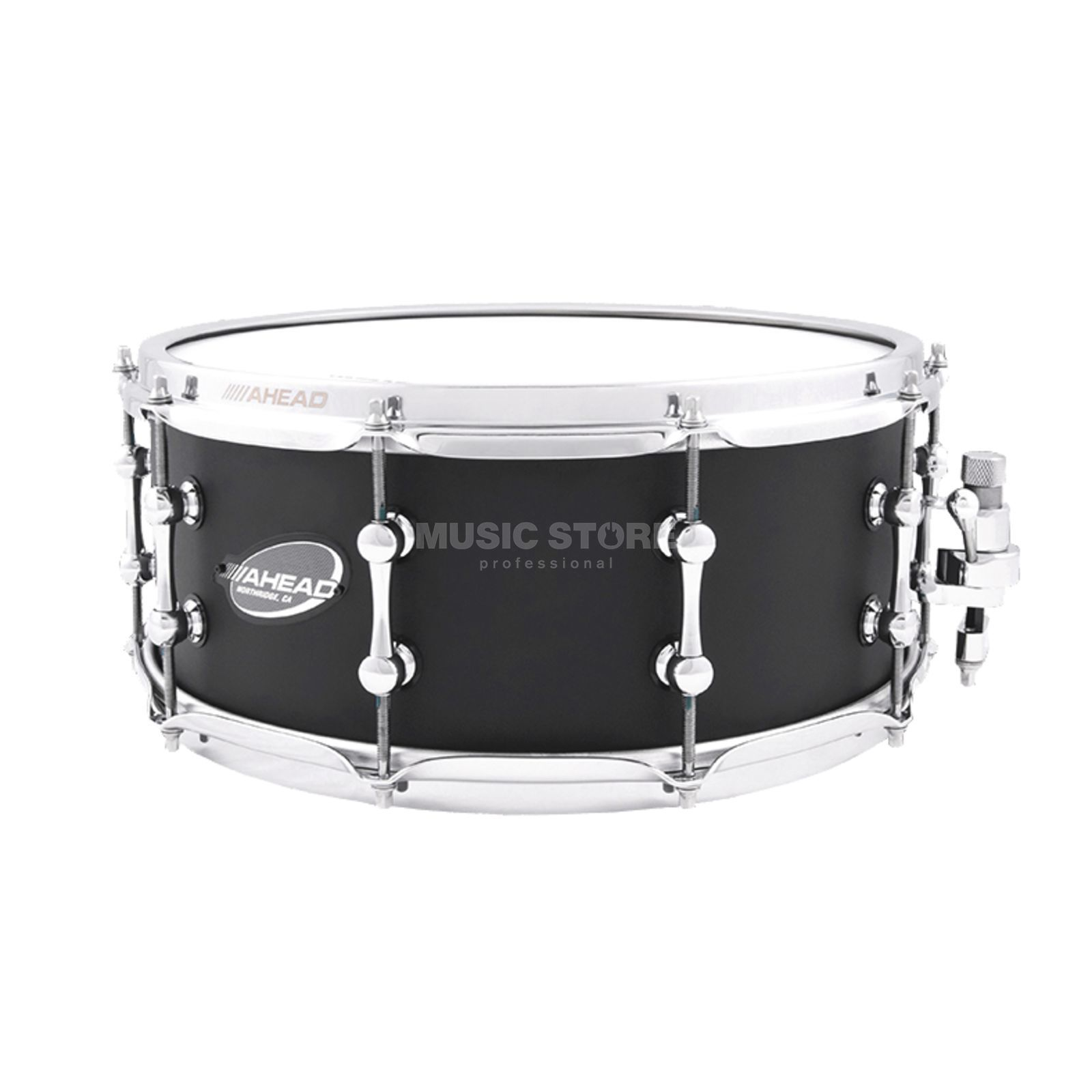 "Ahead Sticks AS614FB Snare 14""x6"", Flat Black on Brass, B-Stock Produktbillede"