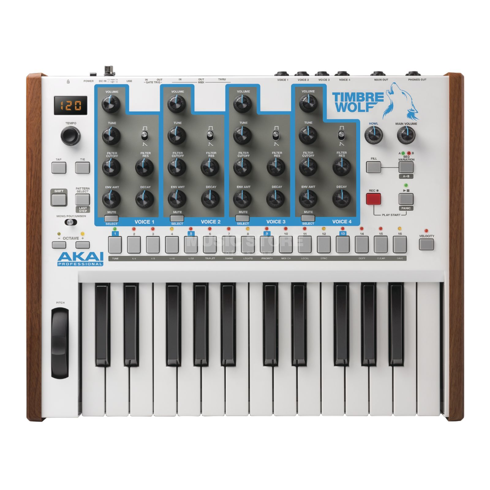 Akai Timbre Wolf Analogue Synthesizer Produktbillede