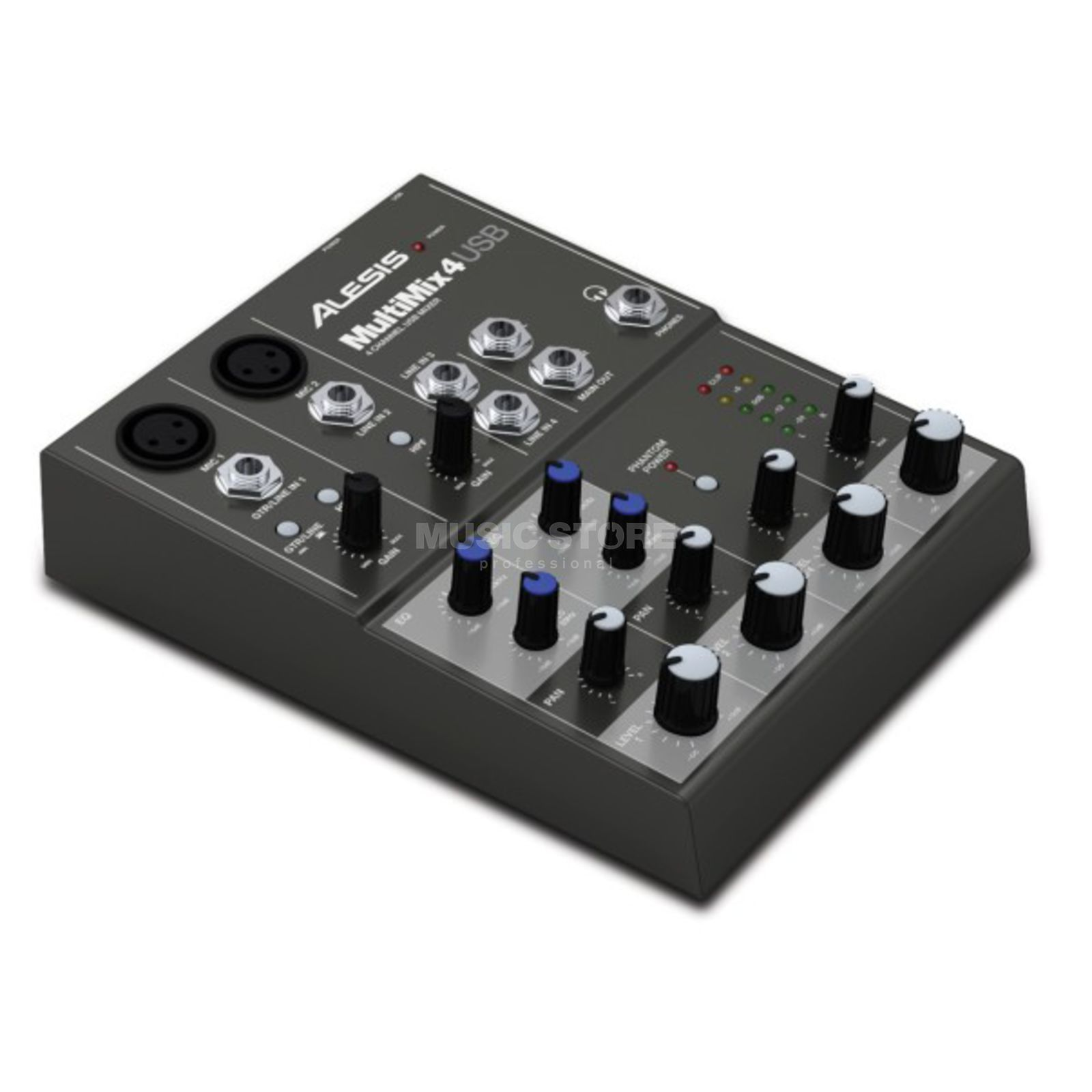 Alesis Multimix 4 USB Desktop Audio Mixer mit USB Produktbild